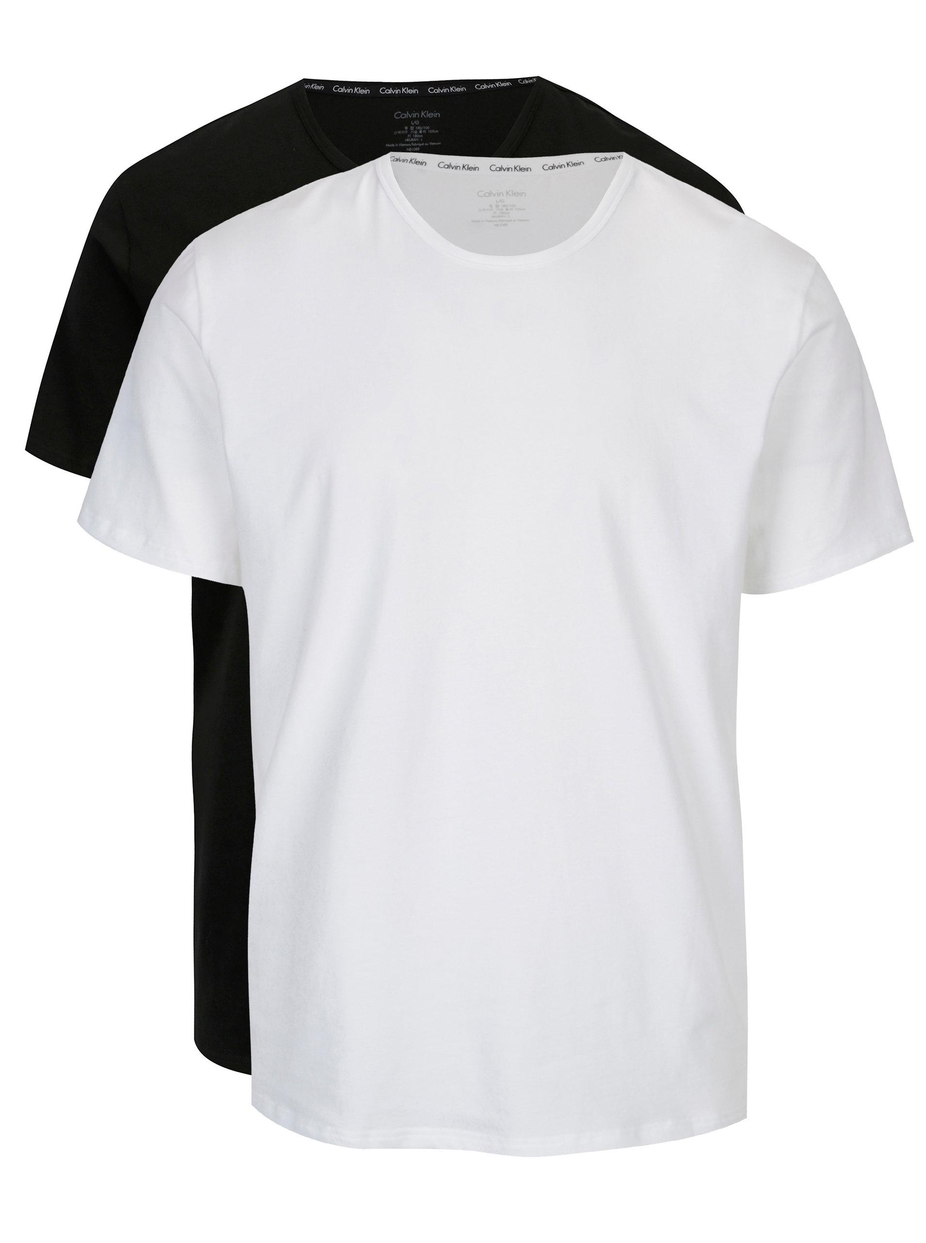 c6a546b876 Súprava dvoch pánskych modern fit tričiek v čiernej a bielej farbe Calvin  Klein Underwear ...