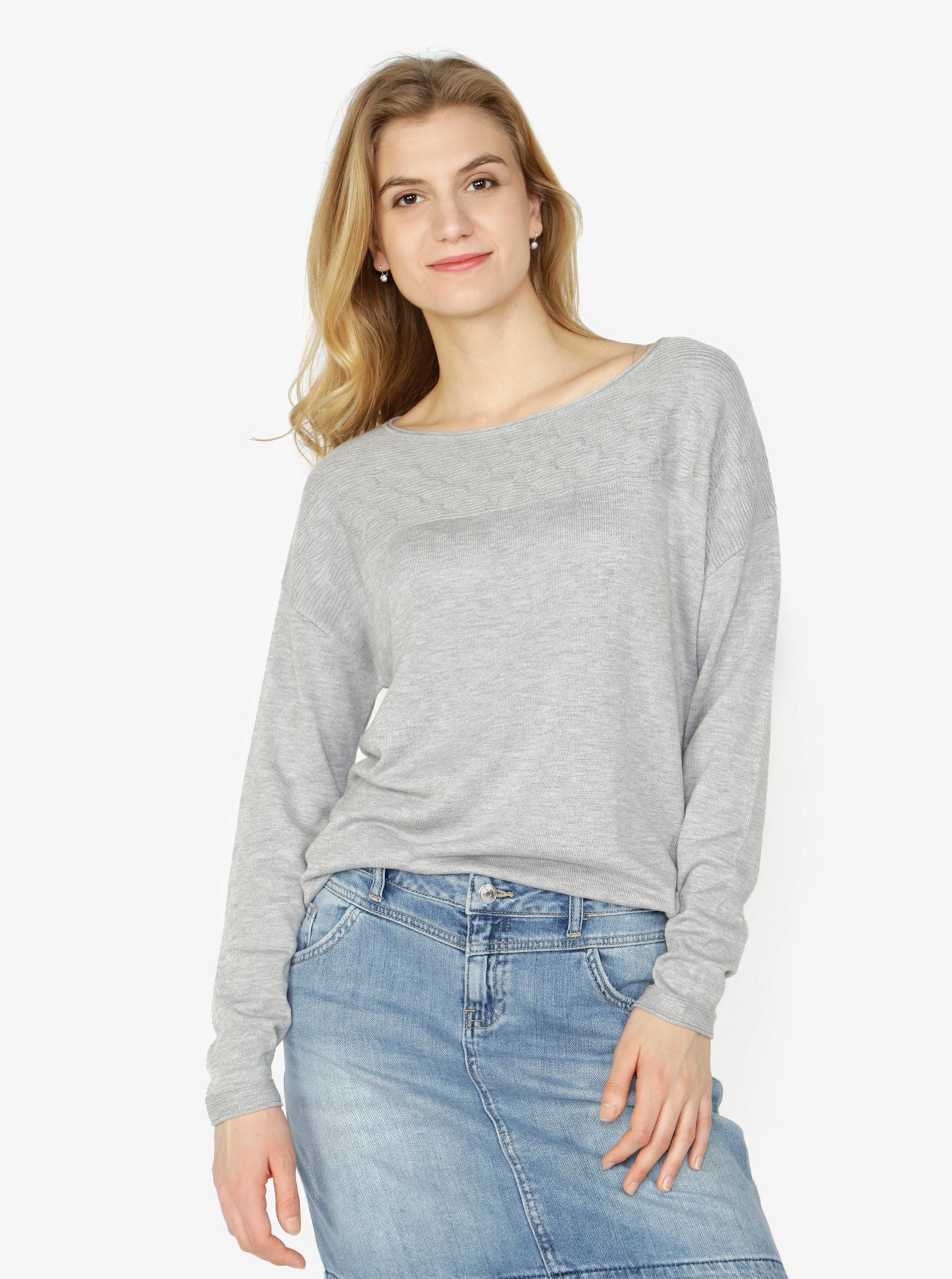Šedý dámský svetr s.Oliver  e215b607f9