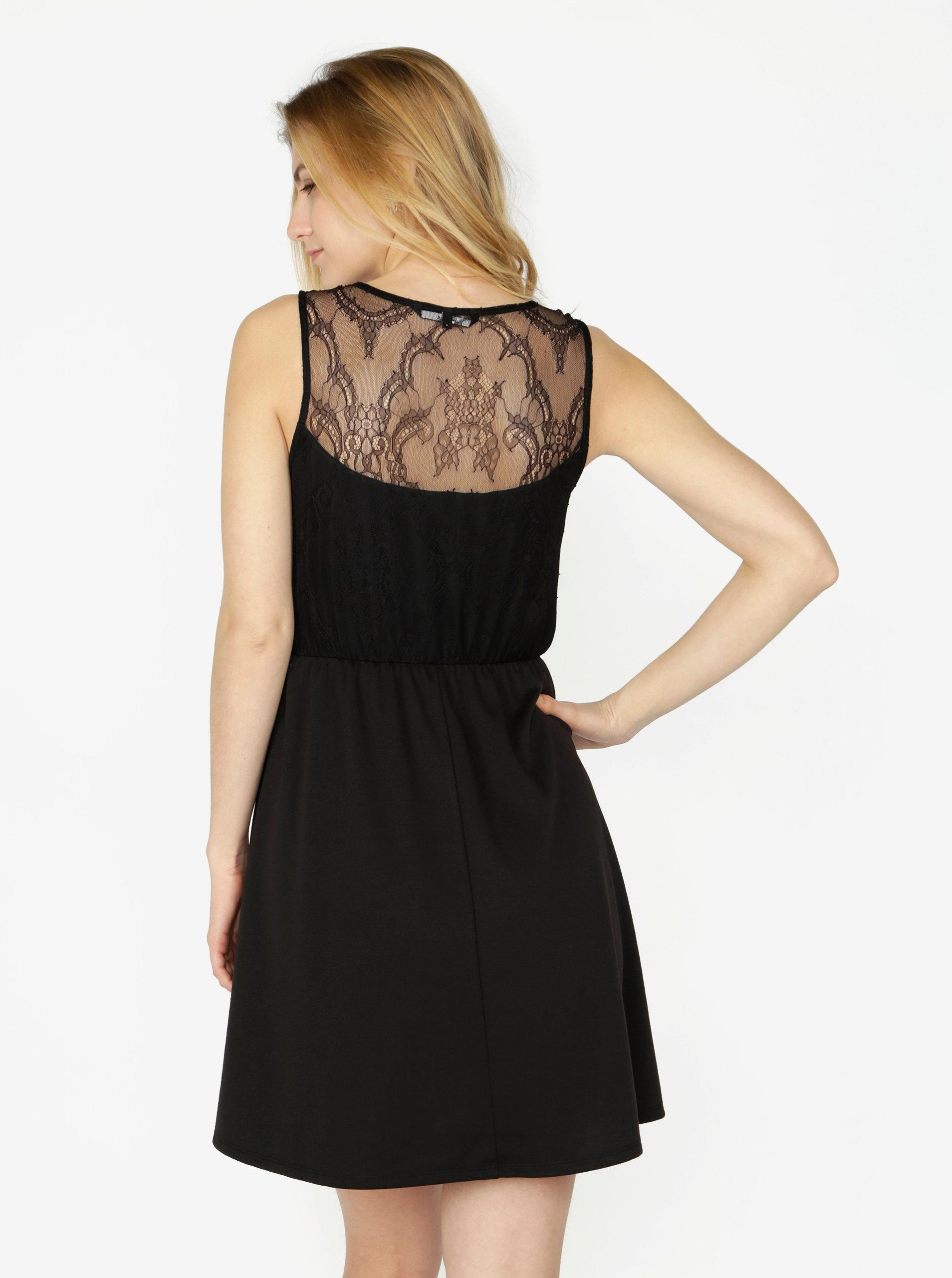 98e96752a53e Čierne šaty s čipkou VERO MODA Daga ...