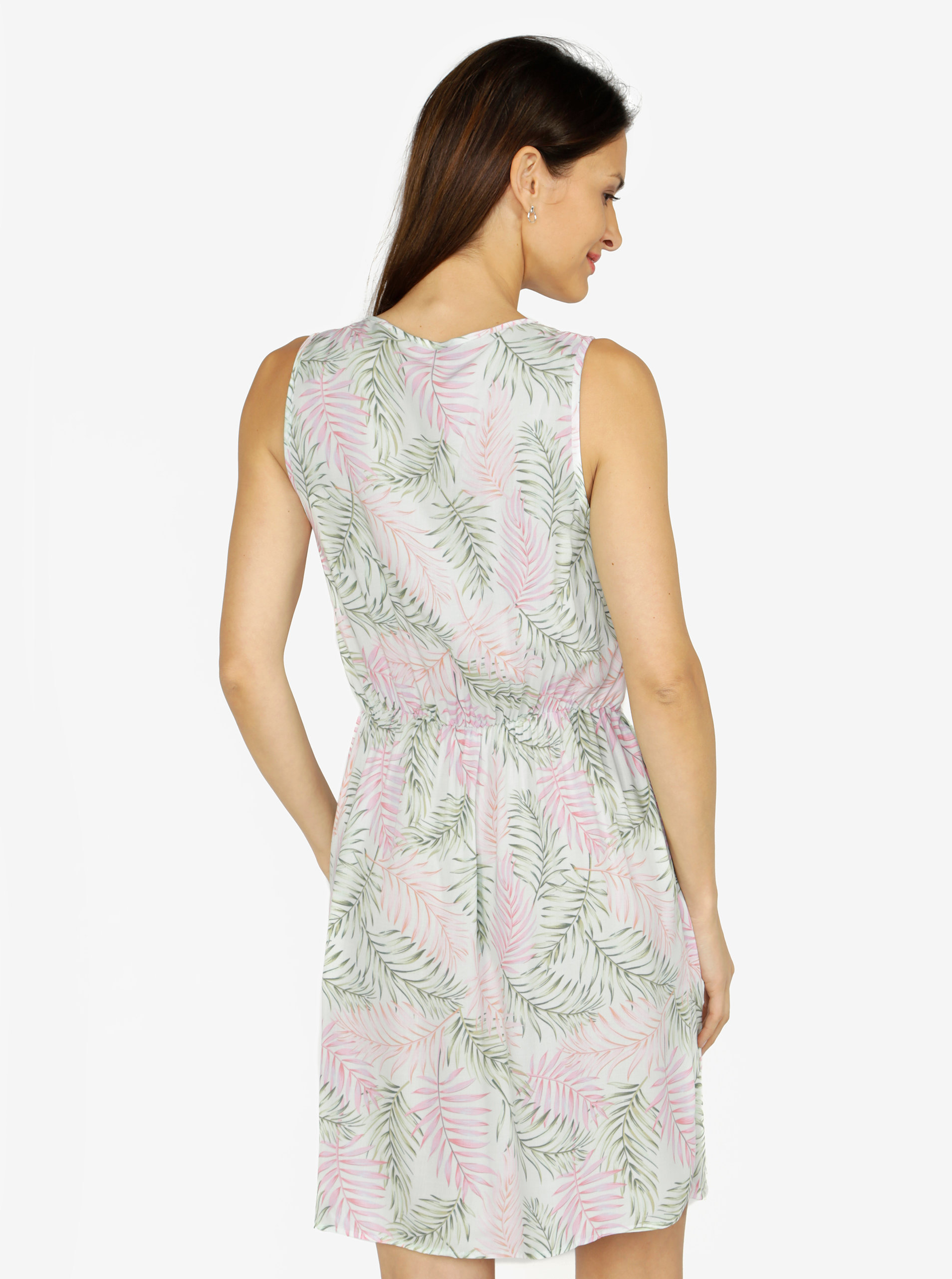 dd1e8ffd58f3 Svetlozelené vzorované šaty VERO MODA Simply ...