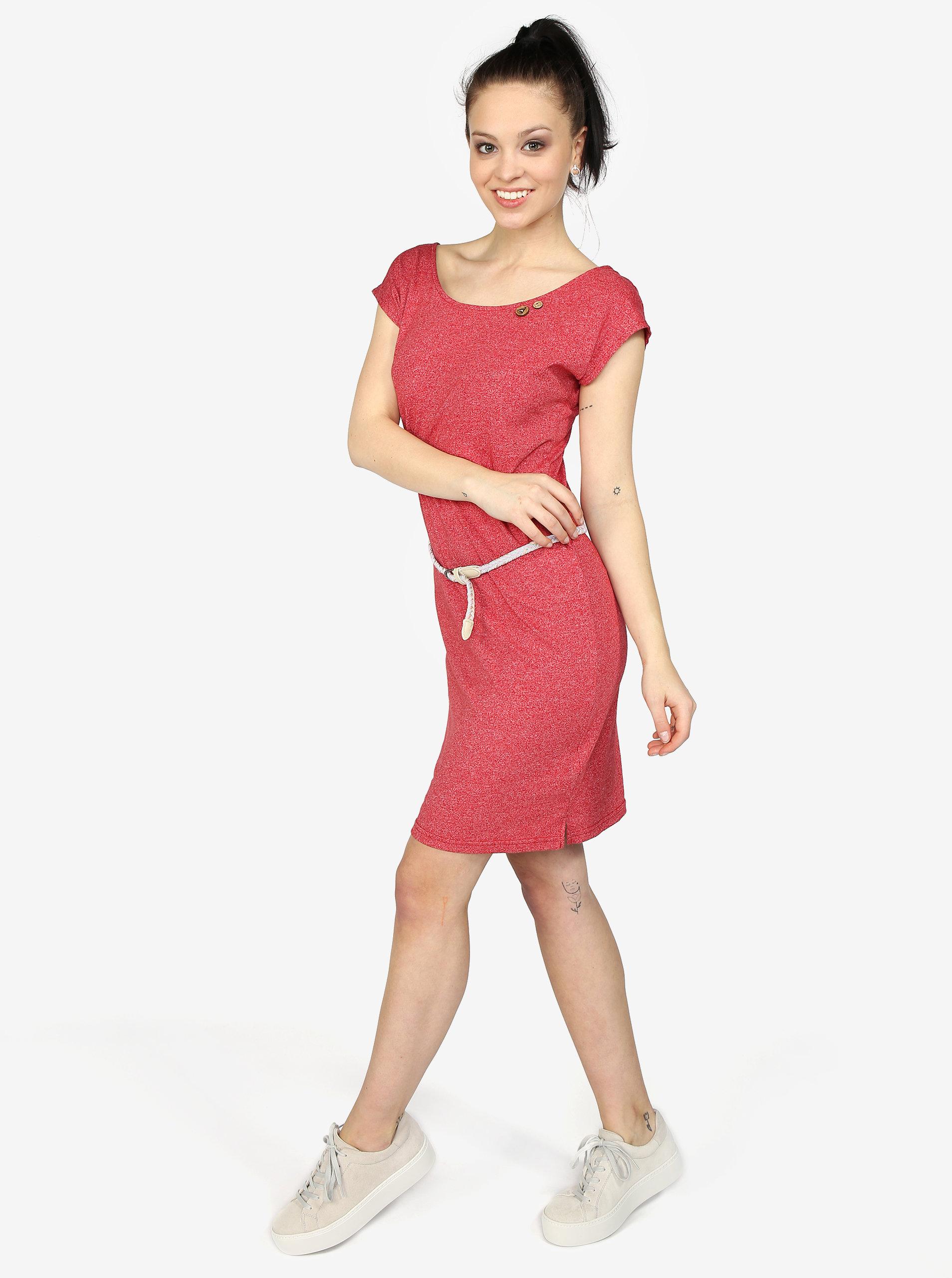 Červené žíhané šaty s pásky na zádech Ragwear Sofia ... 144325f69d