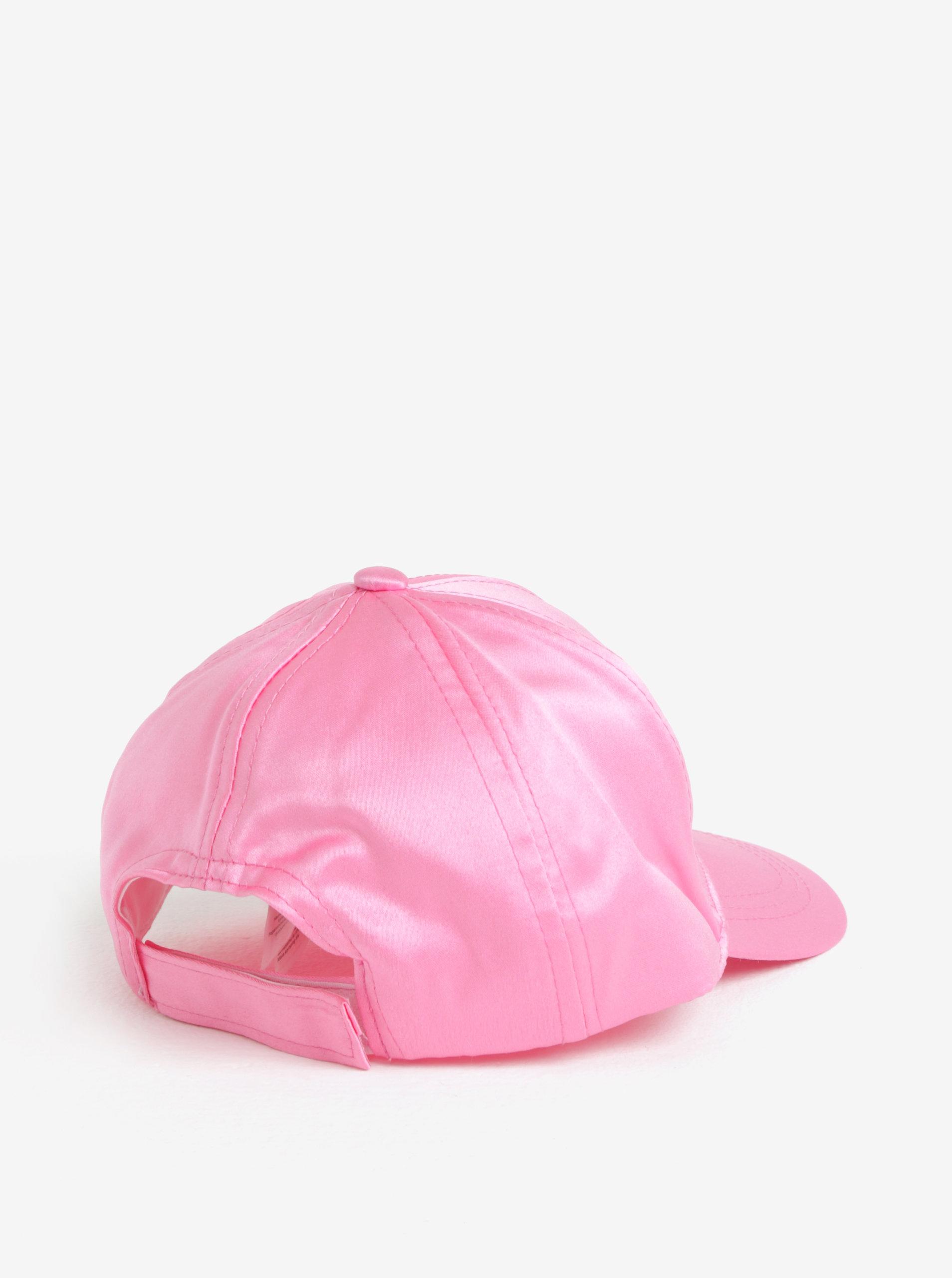 8071129d249 Růžová holčičí lesklá kšiltovka s výšivkou name it Sanna ...