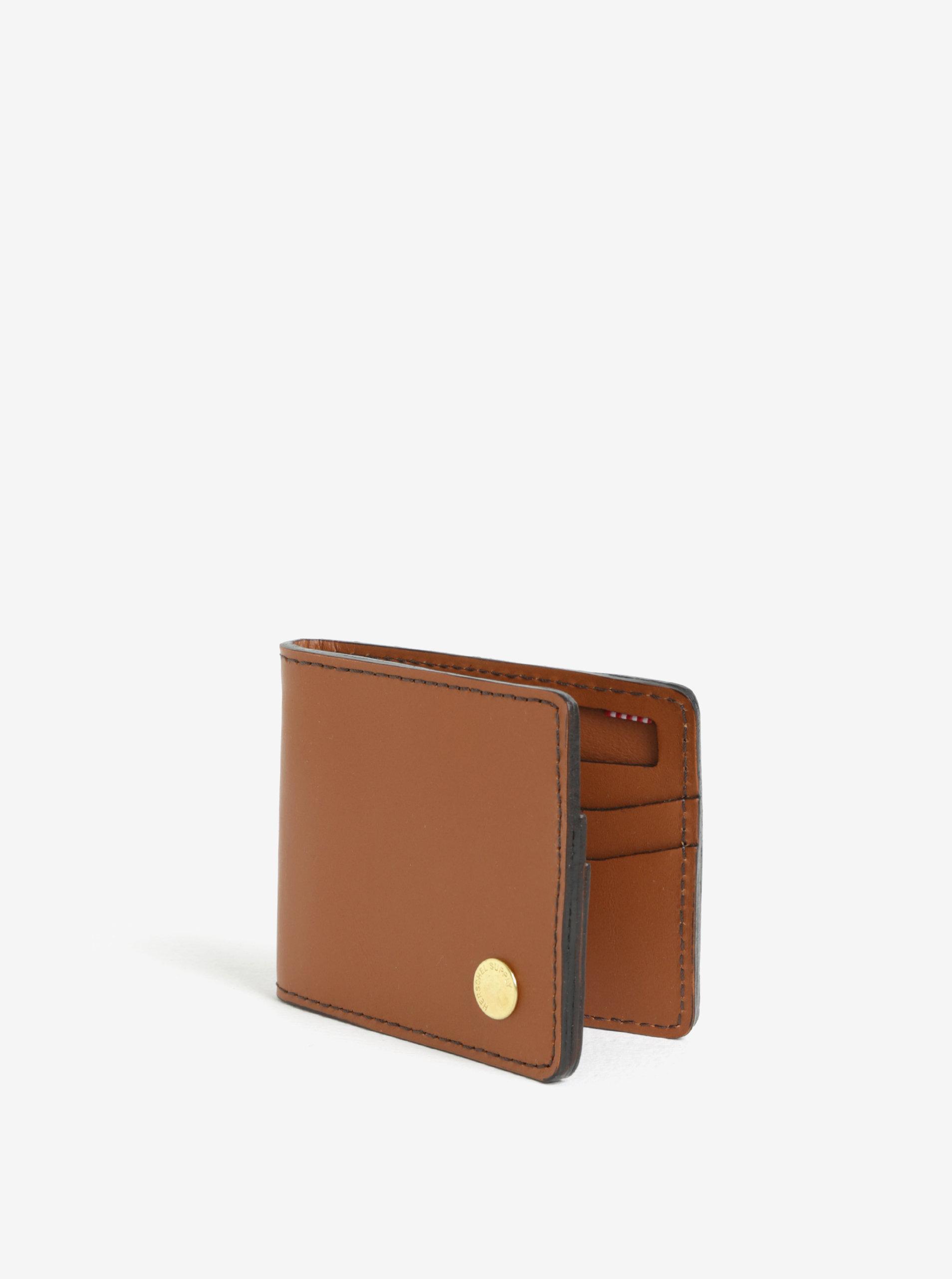 Hnedá pánska kožená peňaženka Herschel Vincent ... 49e1af7fd57