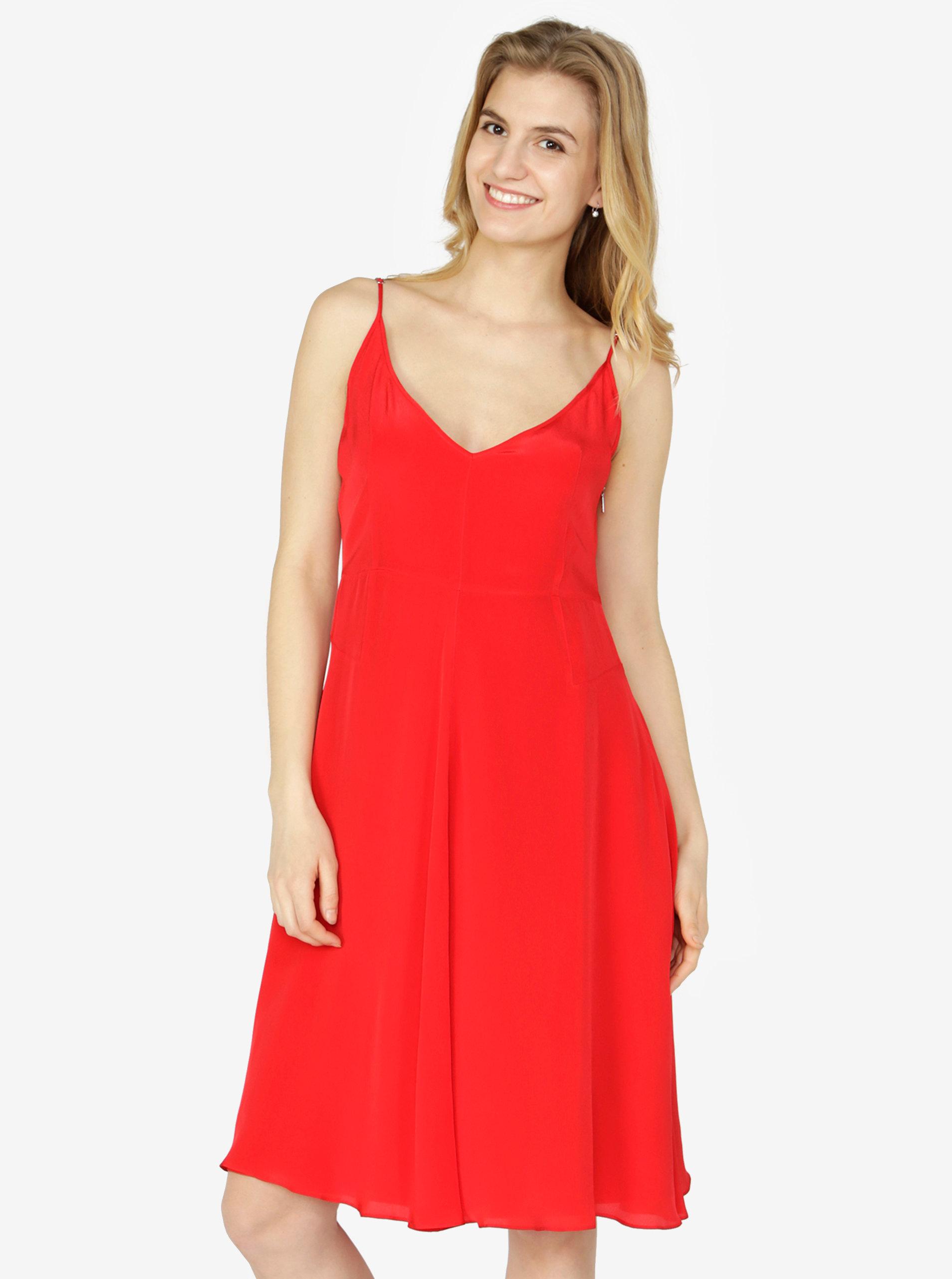 d7680e8b8c1 Červené šaty na ramínka Calvin Klein Jeans Deanna ...