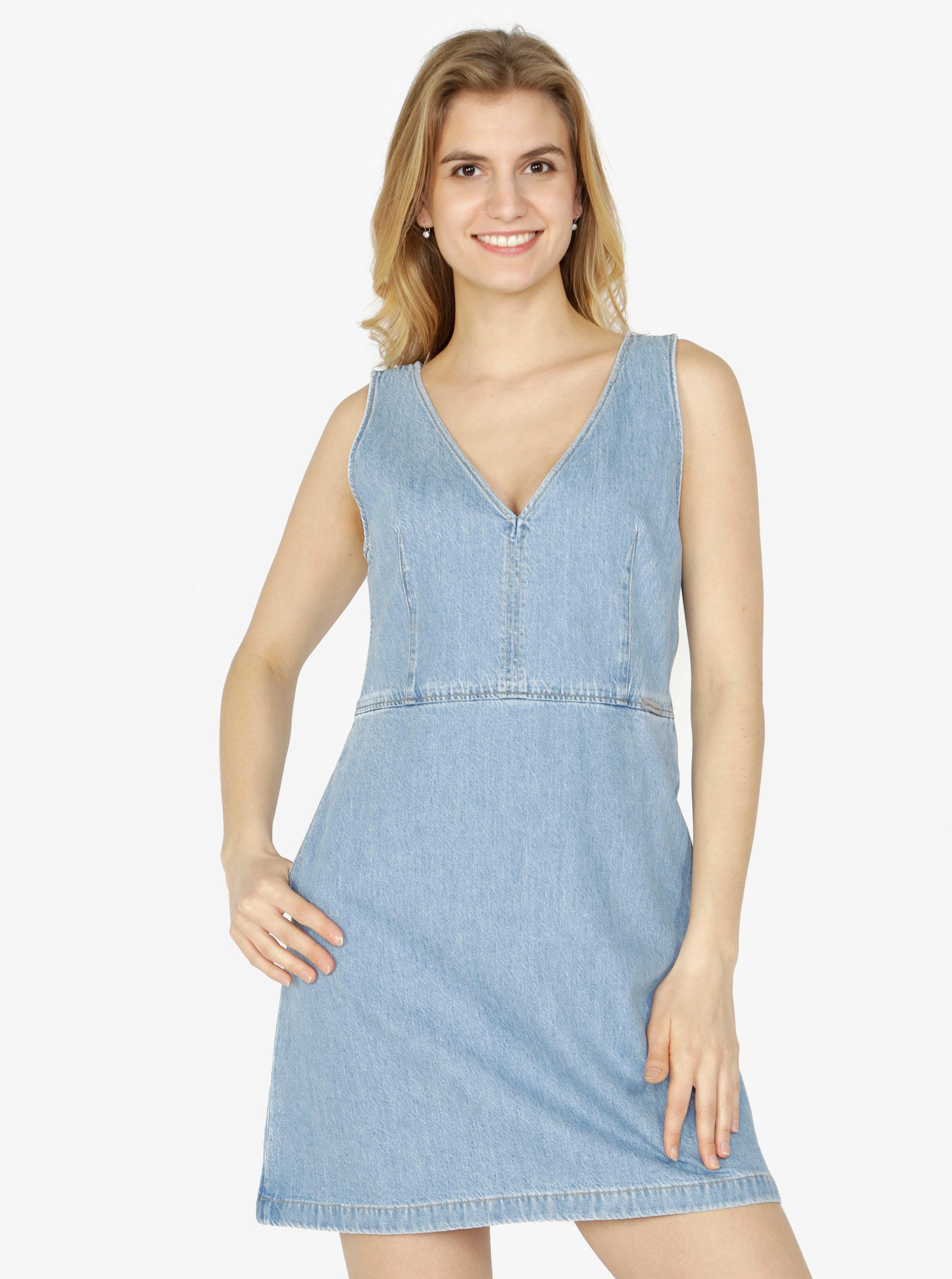 Světle modré džínové šaty Calvin Klein Jeans Dionne ... 2656bf4f31