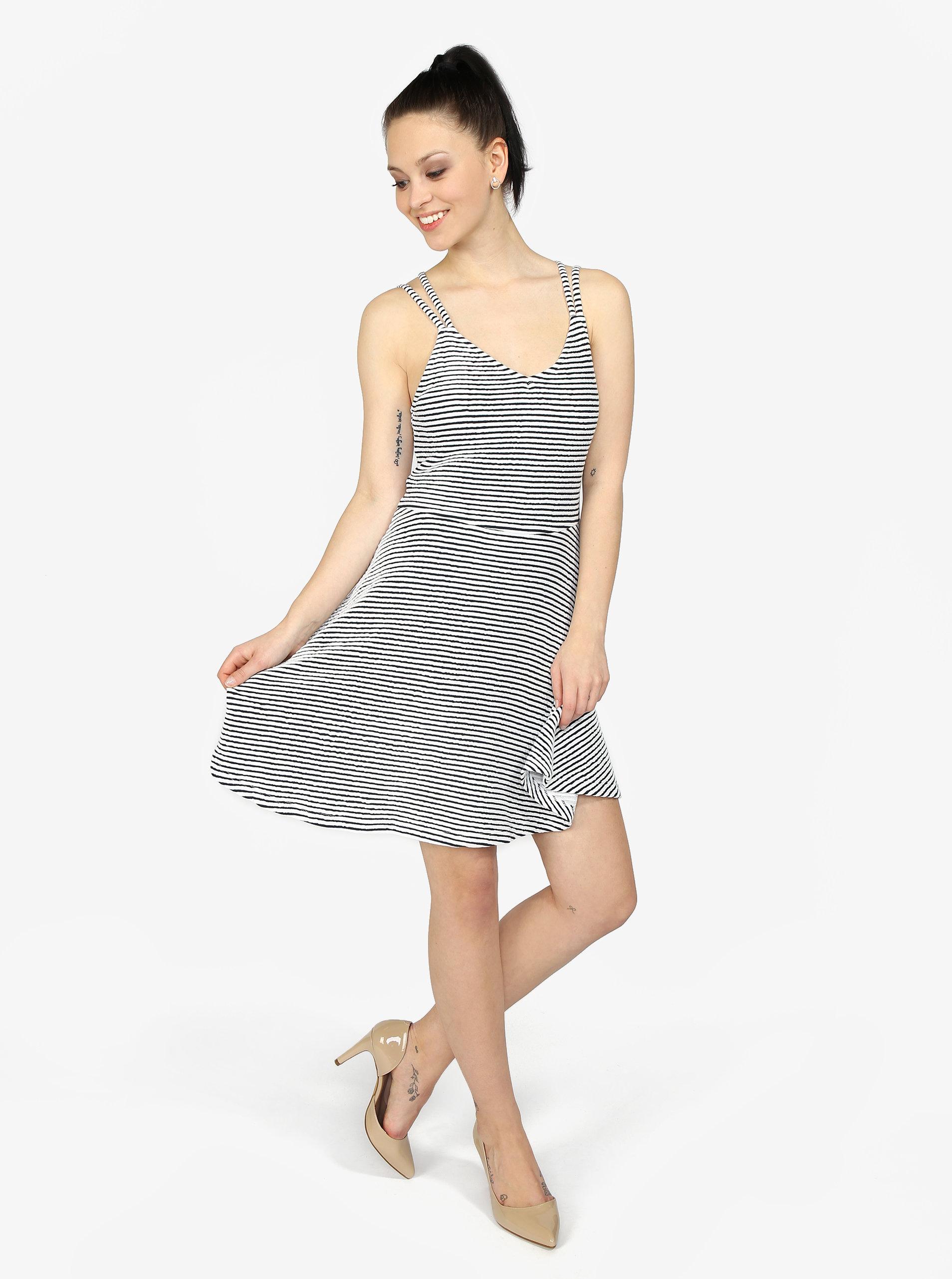 27677da89f96 Modro-biele pruhované áčkové šaty Superdry ...