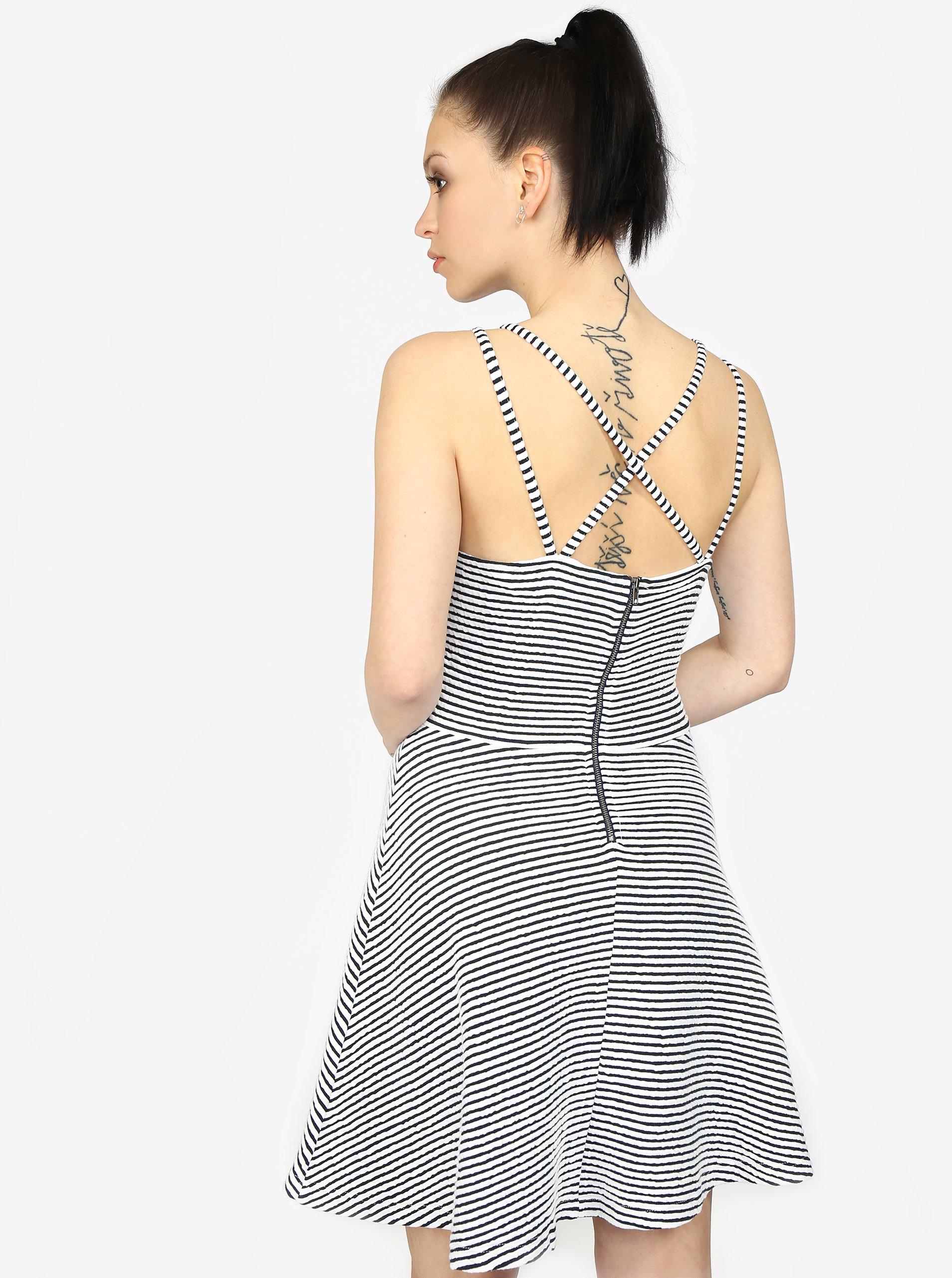 Modro-biele pruhované áčkové šaty Superdry ... a4a9028f178