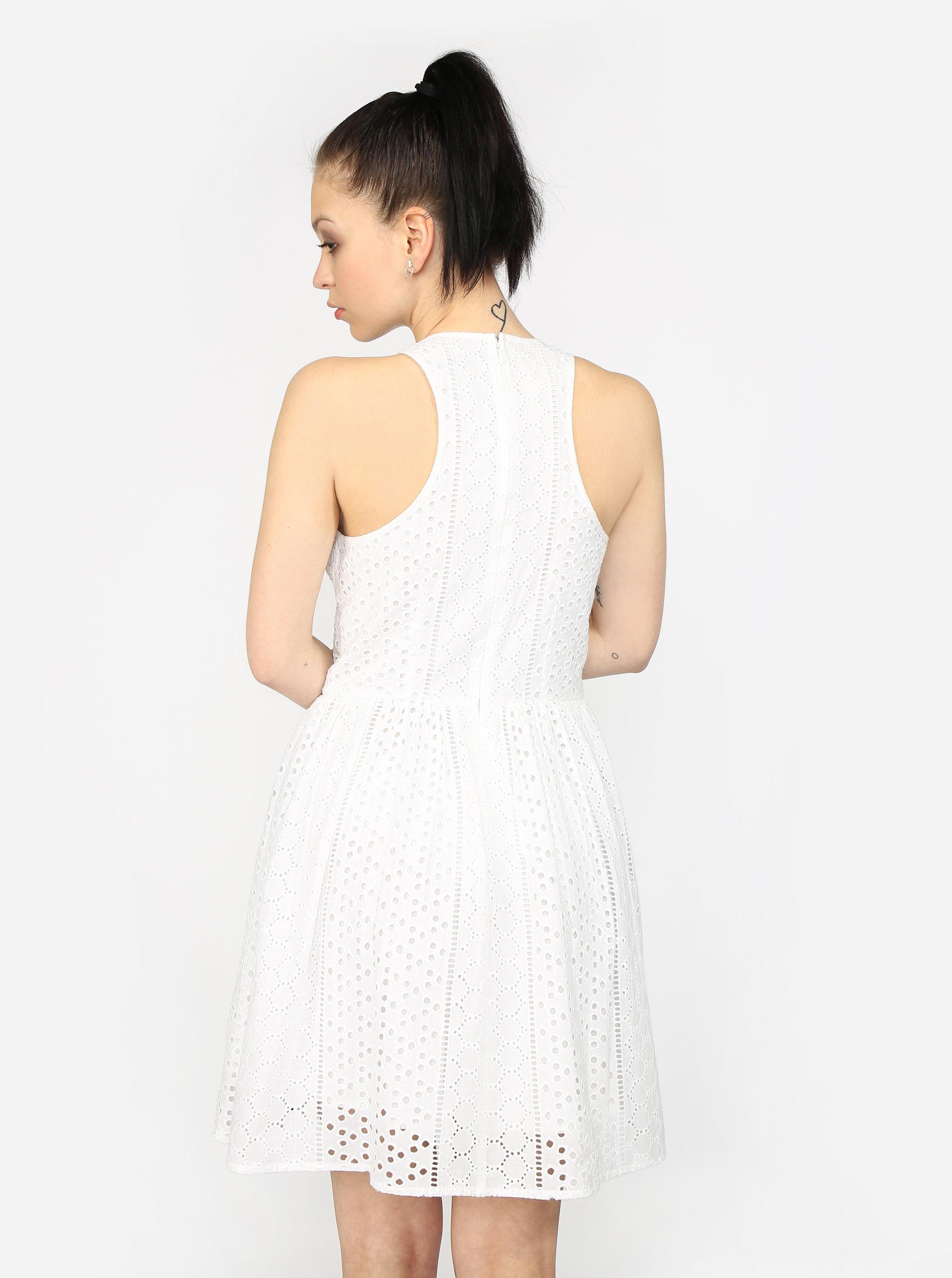 5d94dc46c209 Krémové vzorované šaty Superdry ...