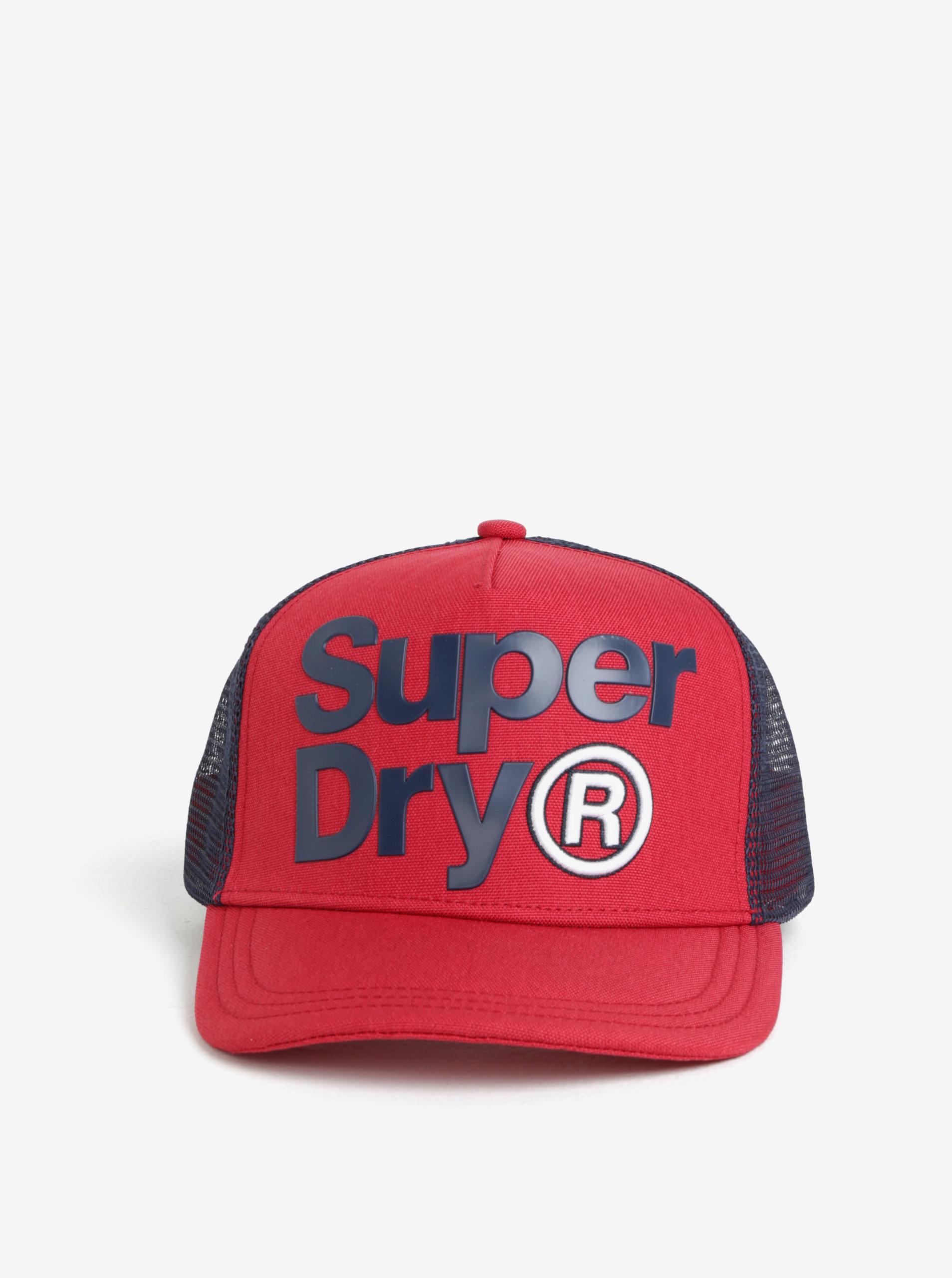 Červená pánská kšiltovka s výšivkou Superdry ... c10e7c547d