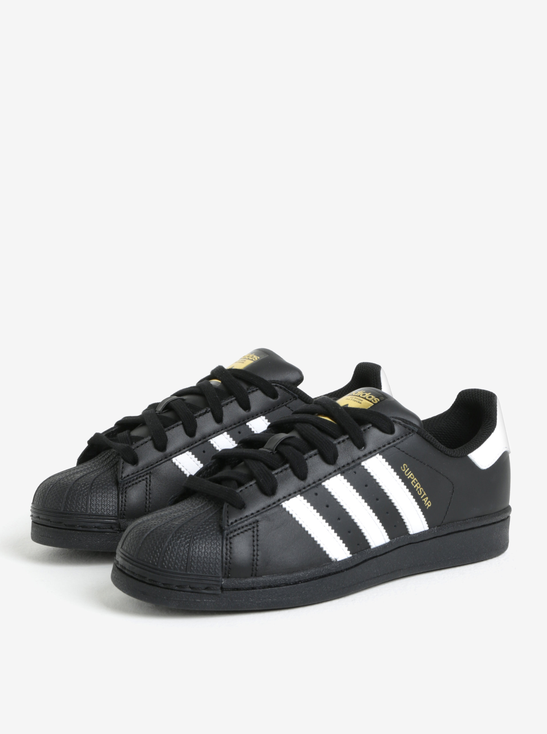 Černé kožené tenisky adidas Originals Superstar ... 6004e10b08