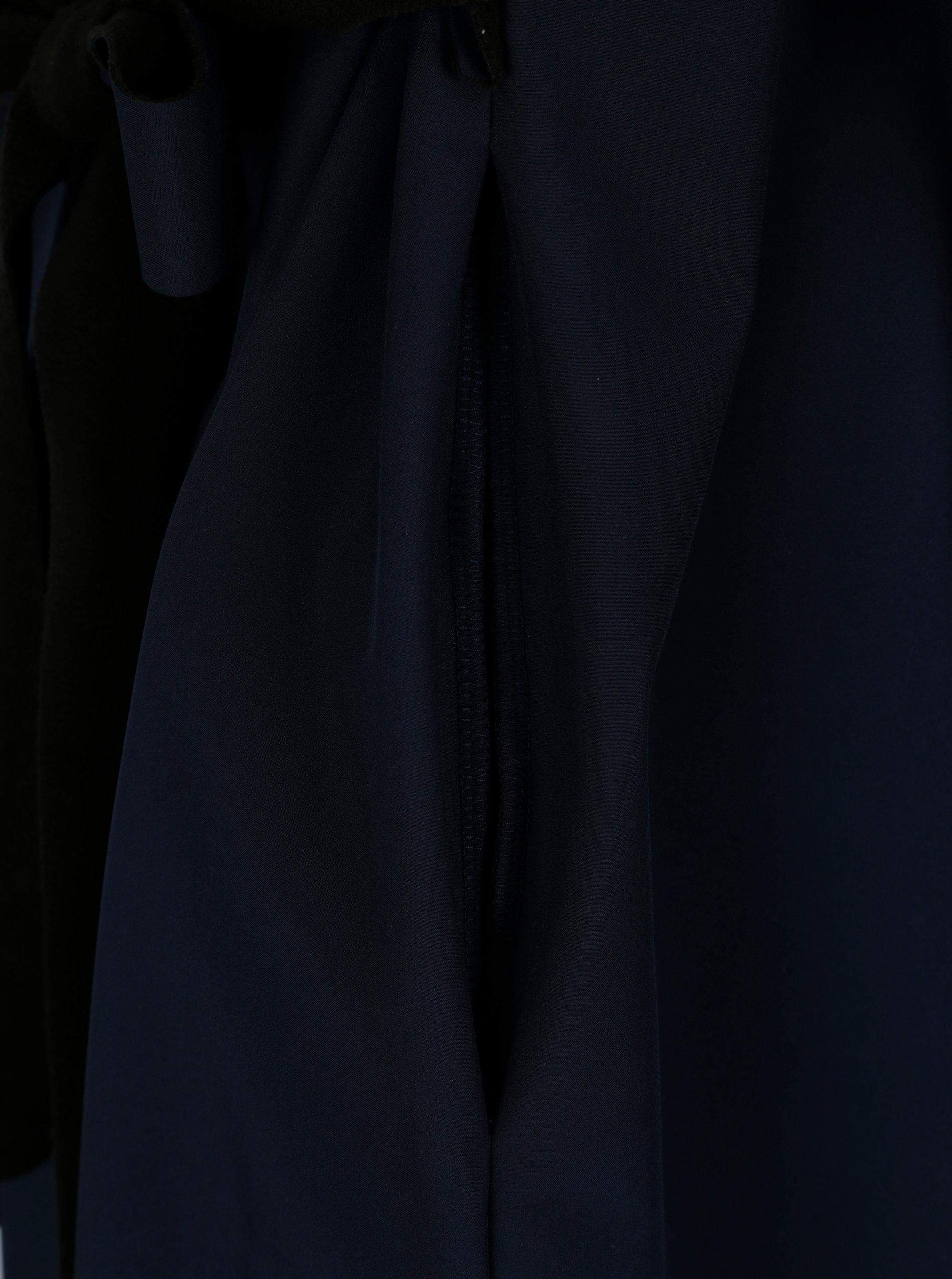 31ab2d242a Čierno-modrý vodovzdorný kabát Design by Lucie Jack Dark Blue ...