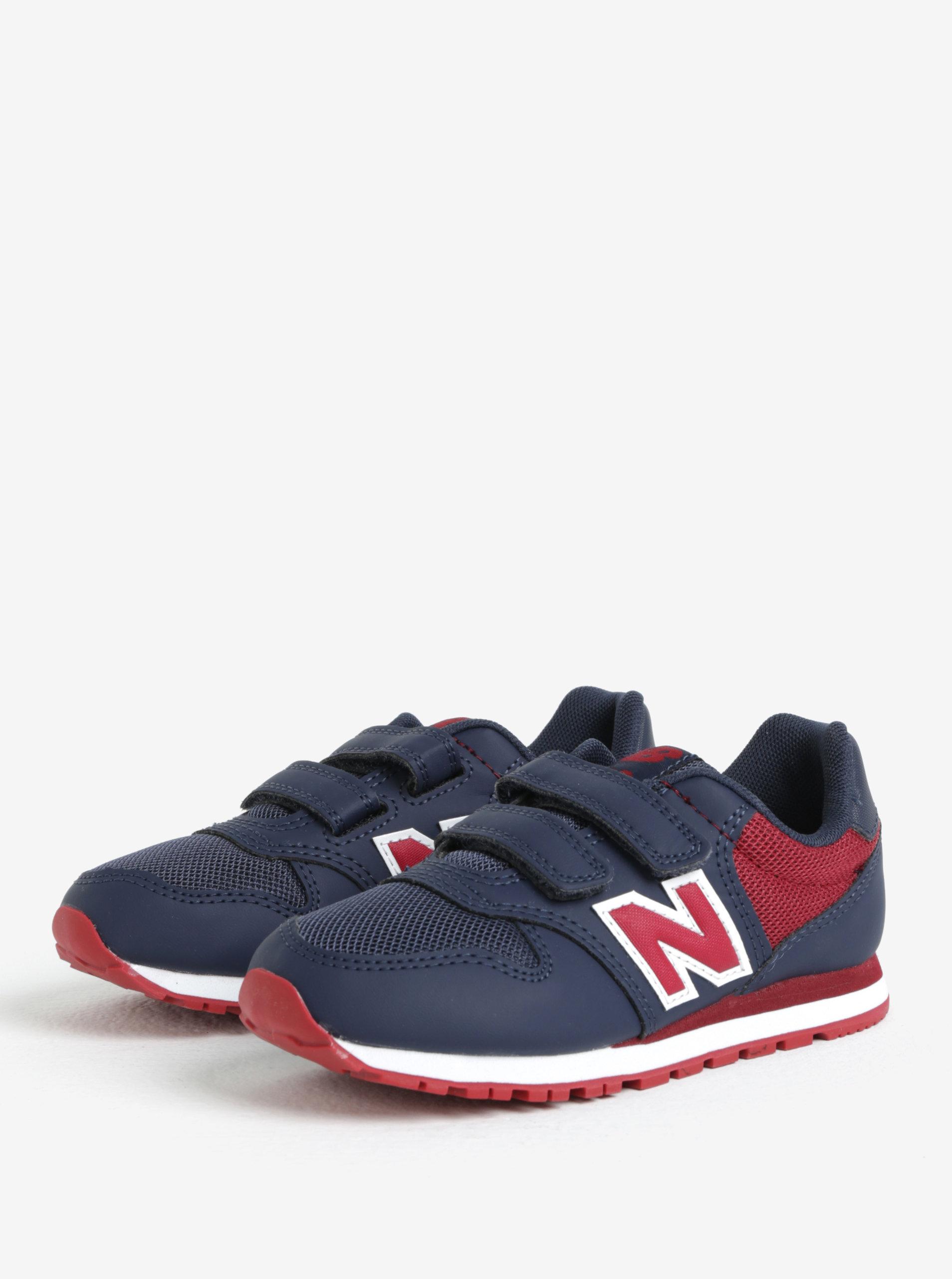 Červeno-modré dětské tenisky New Balance ... 1abf58c069