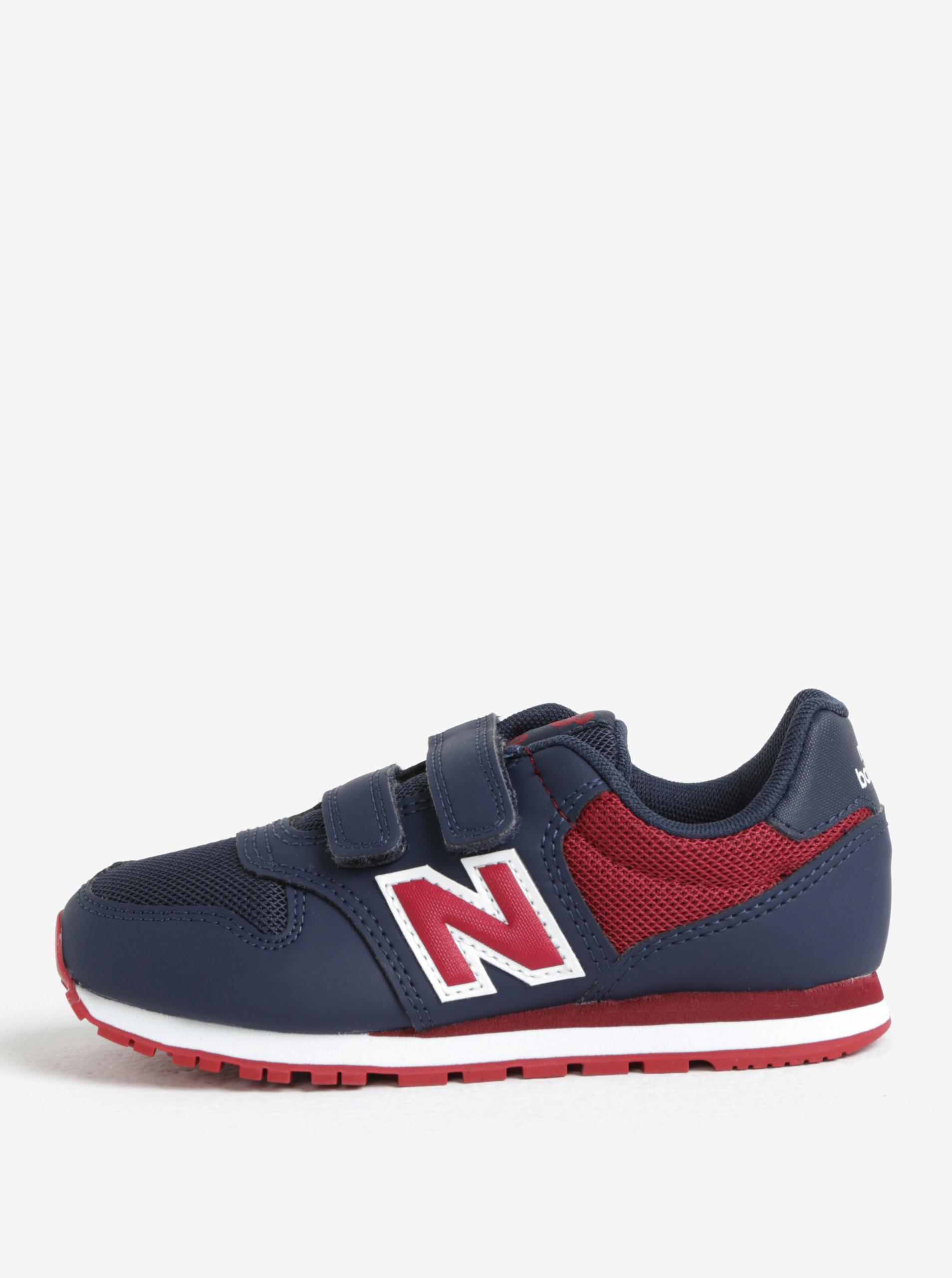 Červeno-modré detské tenisky New Balance ... 258de20a37