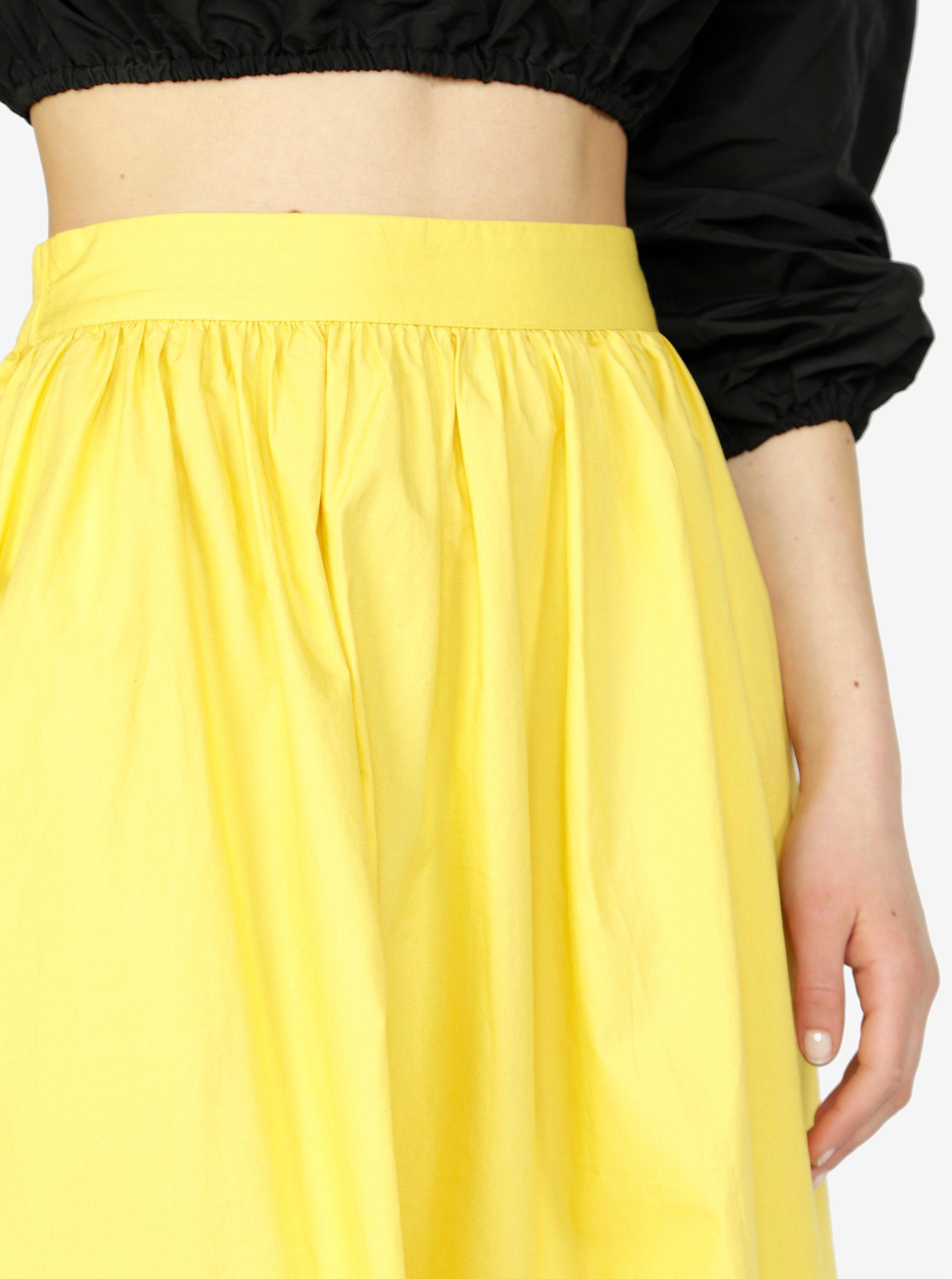 e17c28cd2bf9 Žltá sukňa VERO MODA Ladina ...
