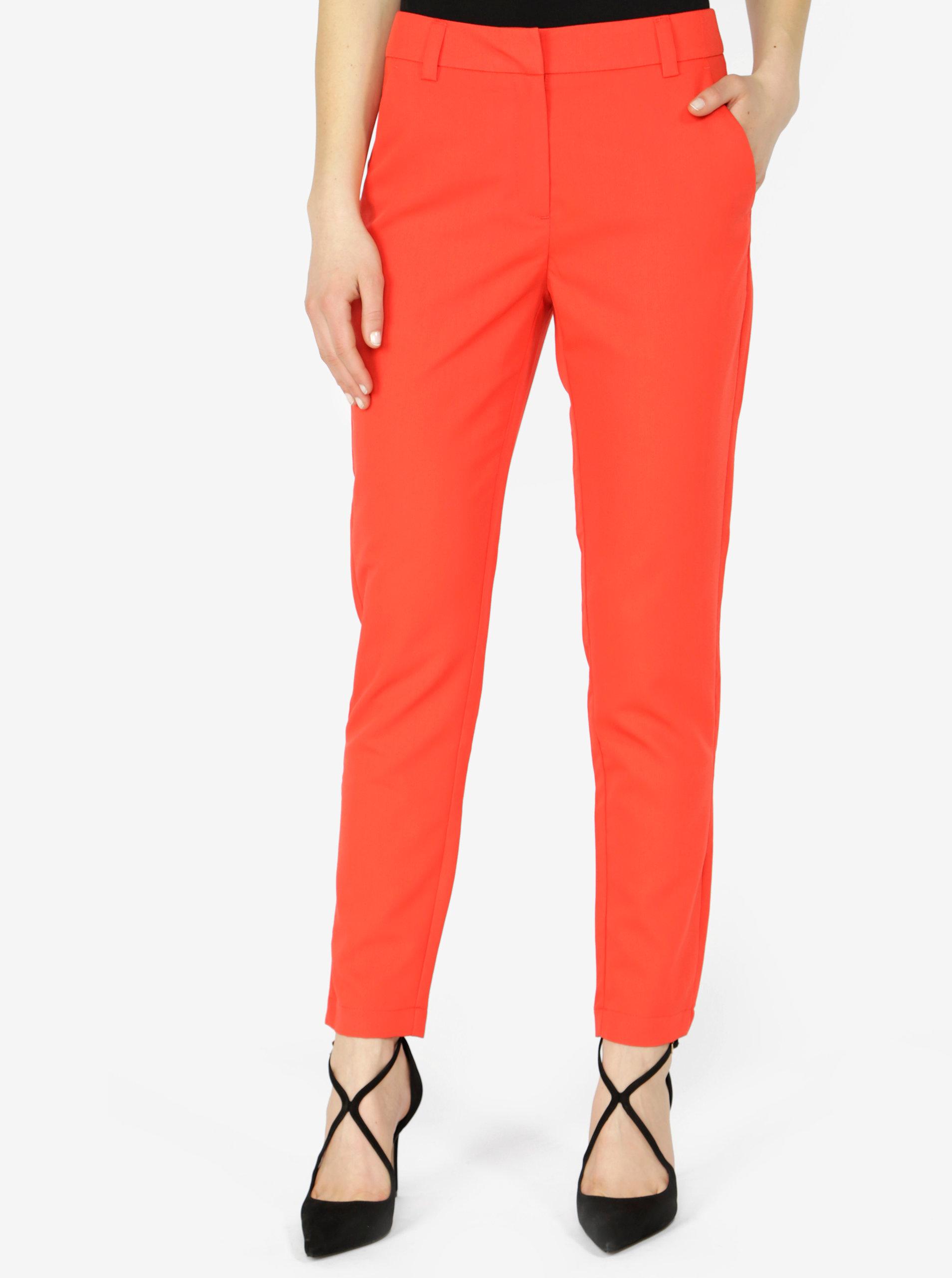 Červené formální kalhoty VERO MODA Ella ... 1b28e01683