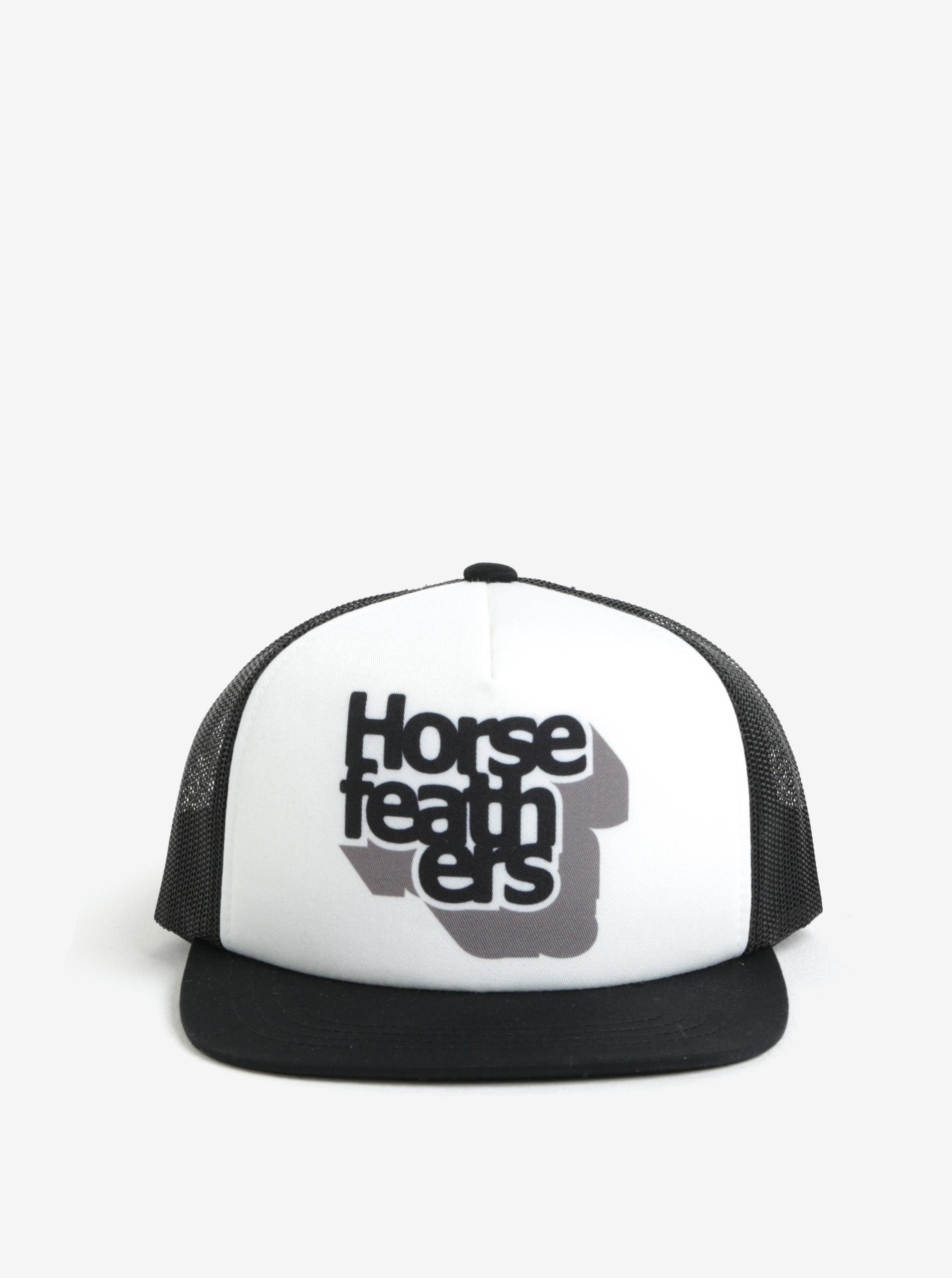 Bílo-černá klučičí kšiltovka Horsefeathers Craps ... 815f0e96af