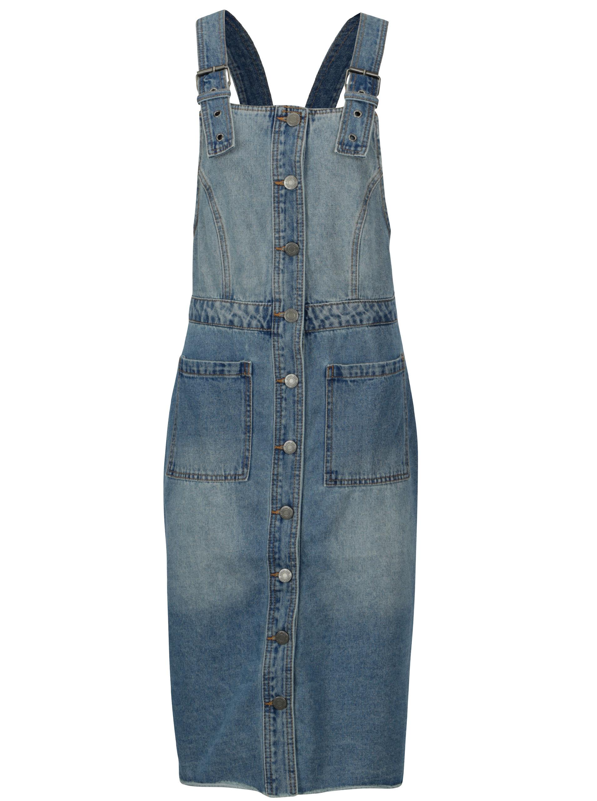 Modré džínové šaty s laclem Noisy May Jenny ... 35a51b394a5