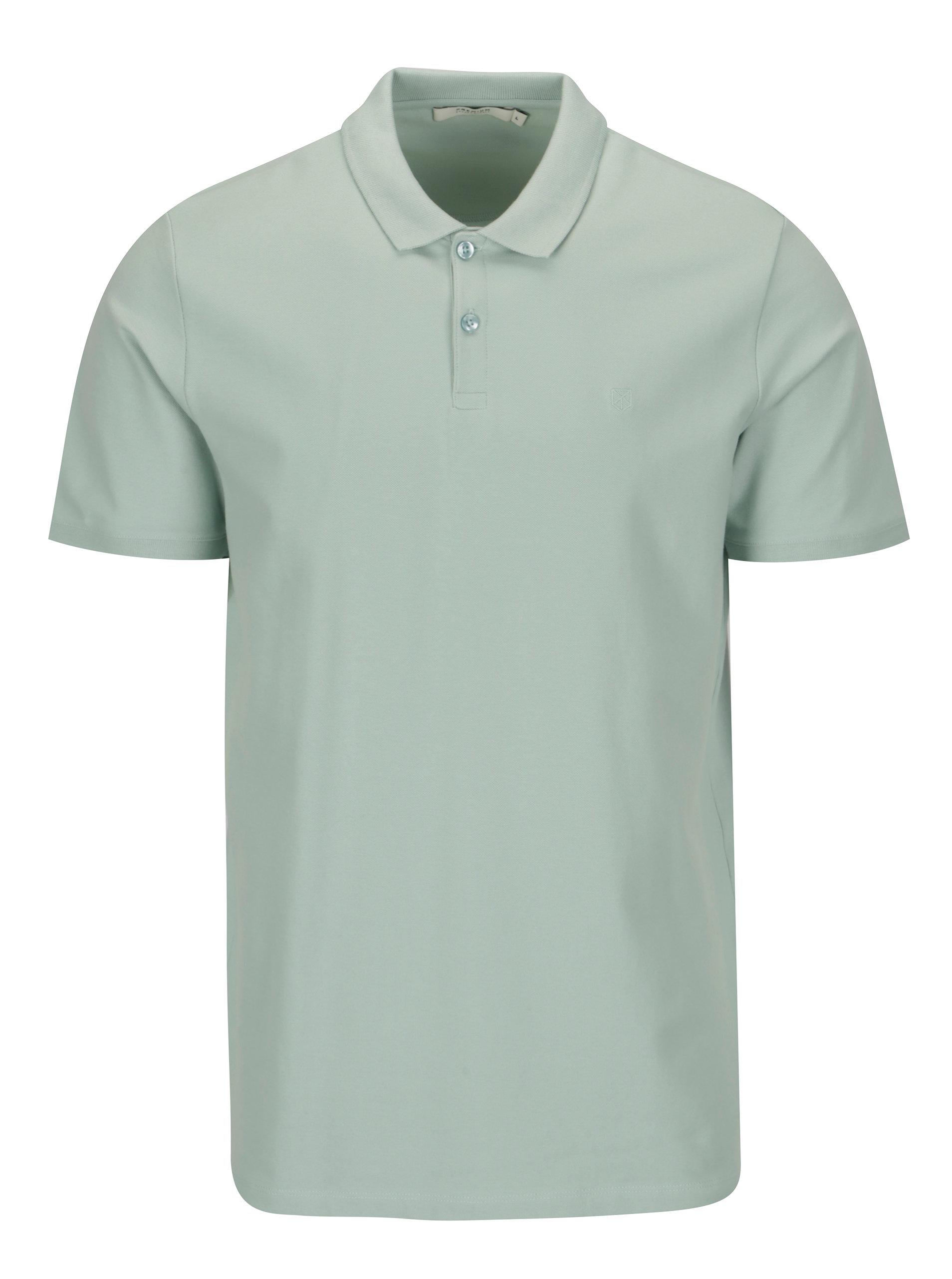 Světle zelené polo tričko Jack   Jones Premium Belfast ... 4eaa713ff1