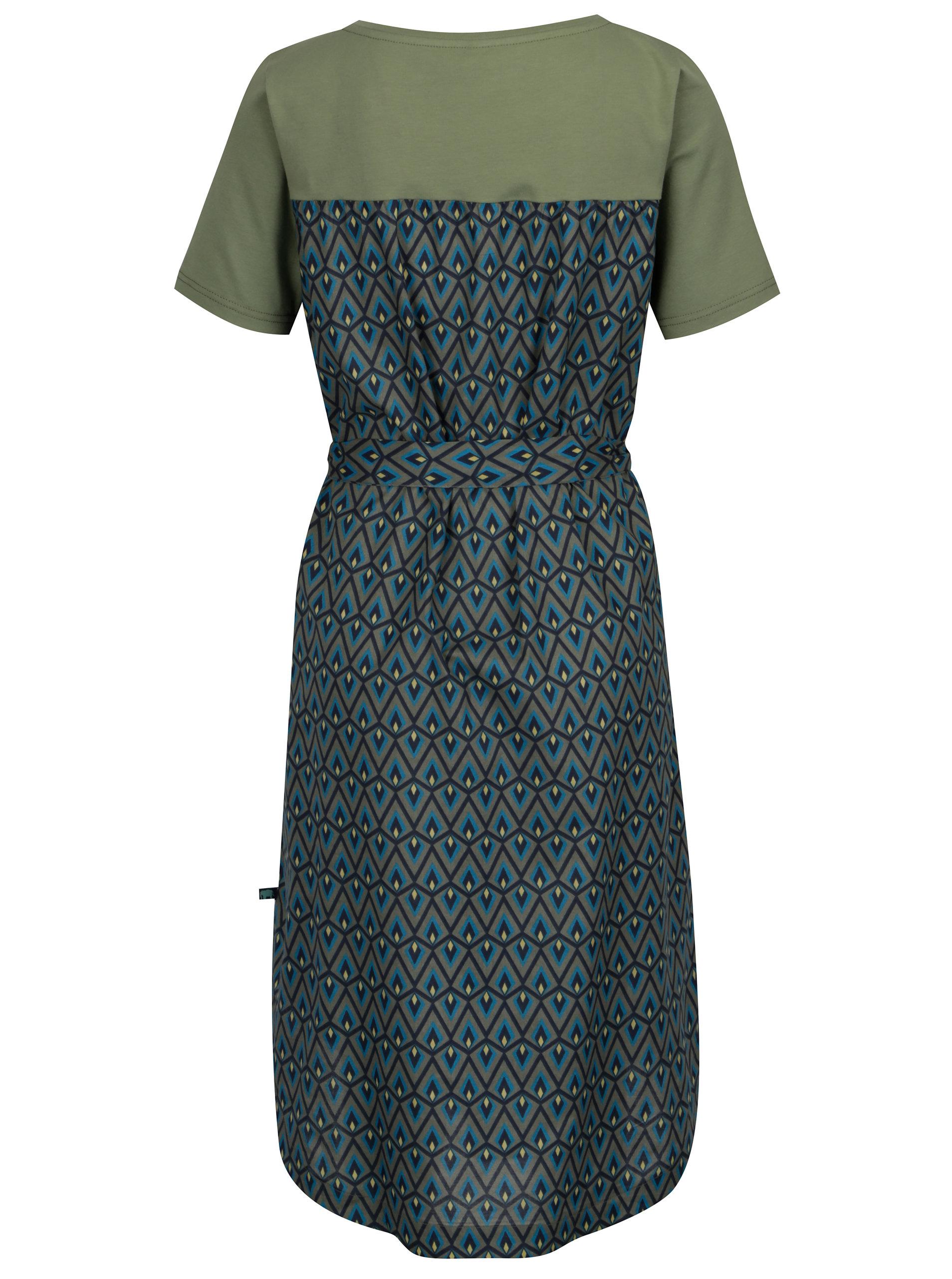 20c350a56251 Tmavosivé vzorované šaty s krátkym rukávom Tranquillo Usnea ...