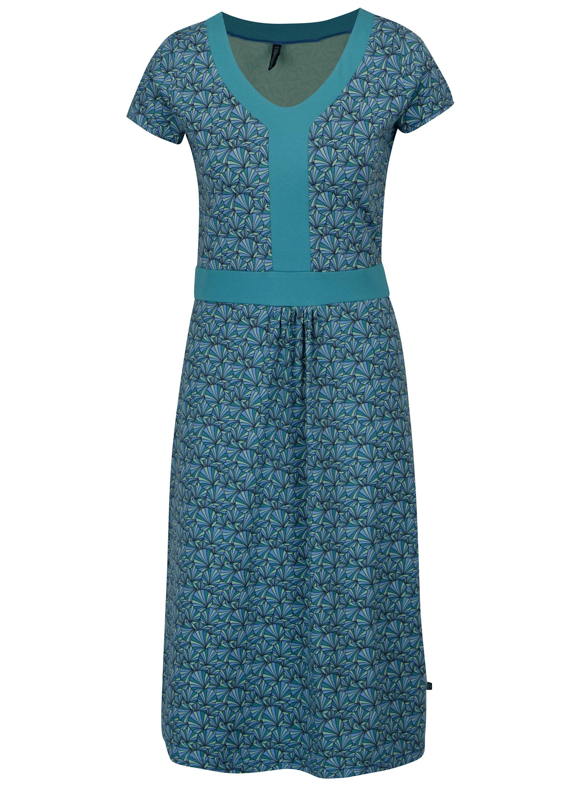4ba62a51a73 Tyrkysové vzorované šaty Tranquillo Kaya ...