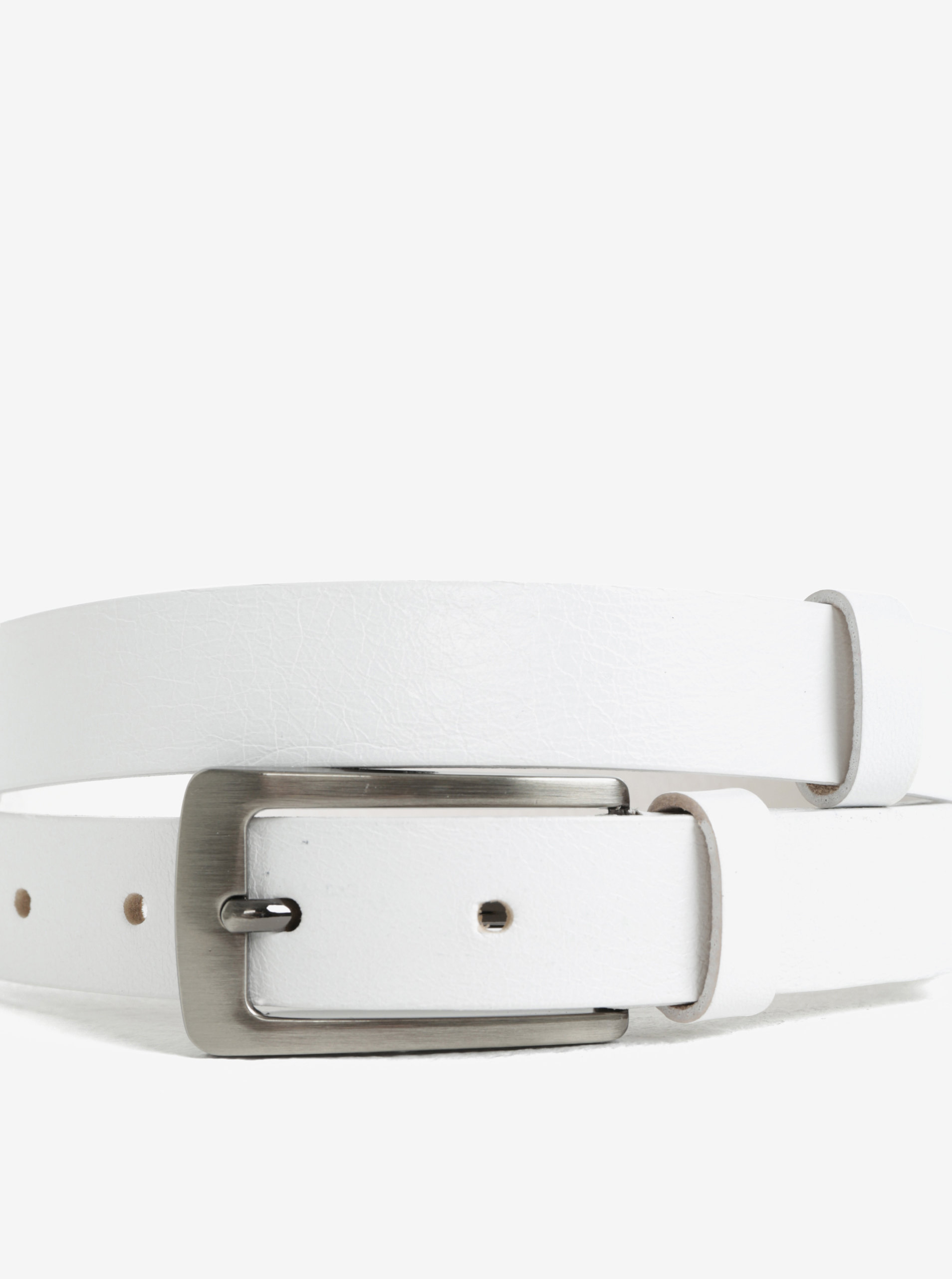 503618322ba Bílý dámský kožený pásek KARA ...