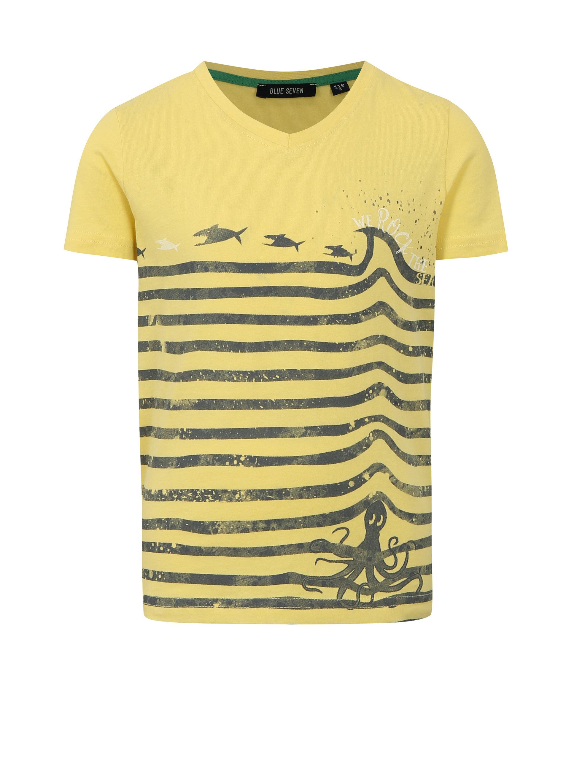 c4bb5bf2ddc5 Žlté chlapčenské tričko s potlačou Blue Seven ...