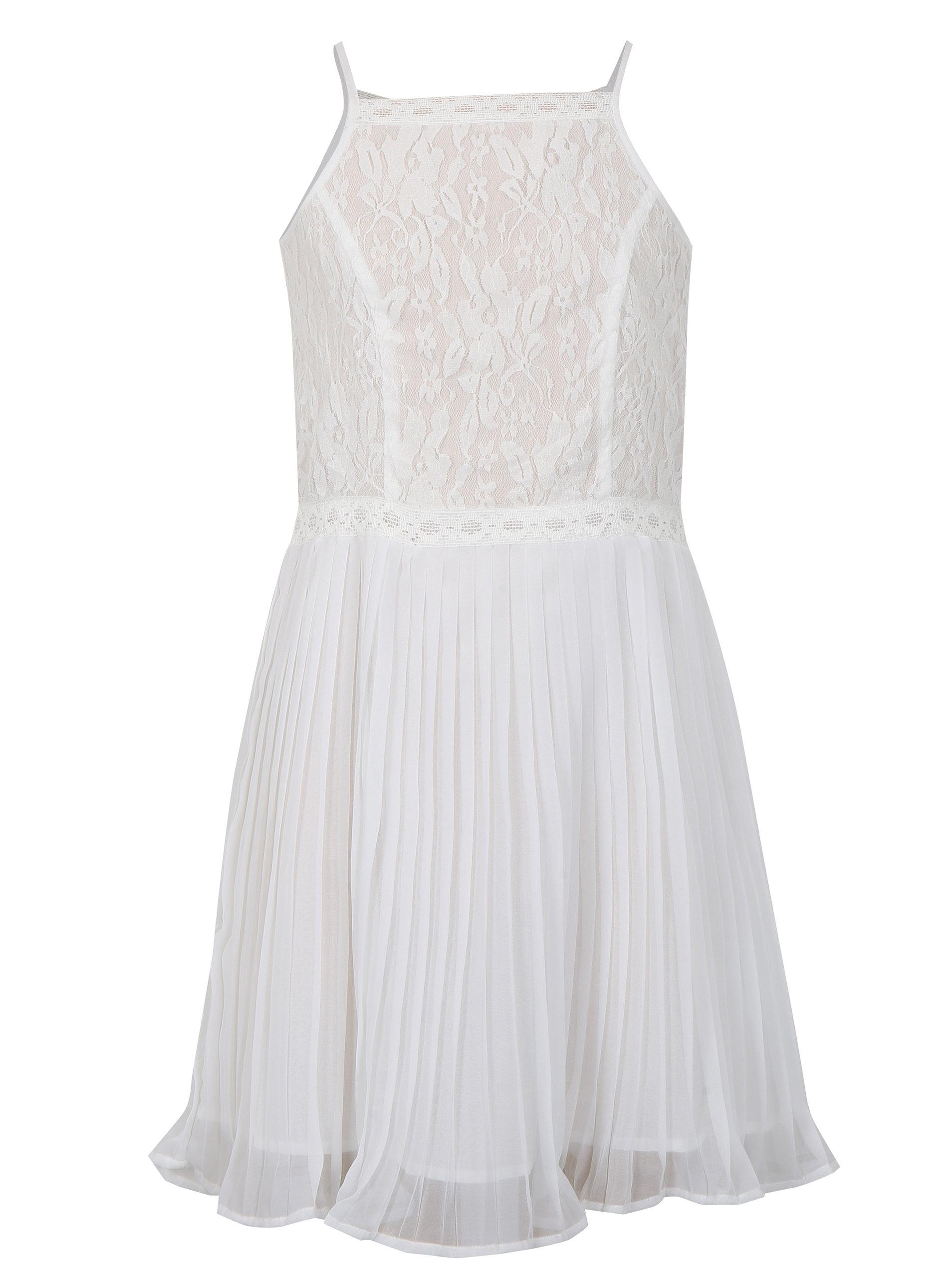 837752bc4518 Biele dievčenské šaty s čipkovaným topom Blue Seven ...