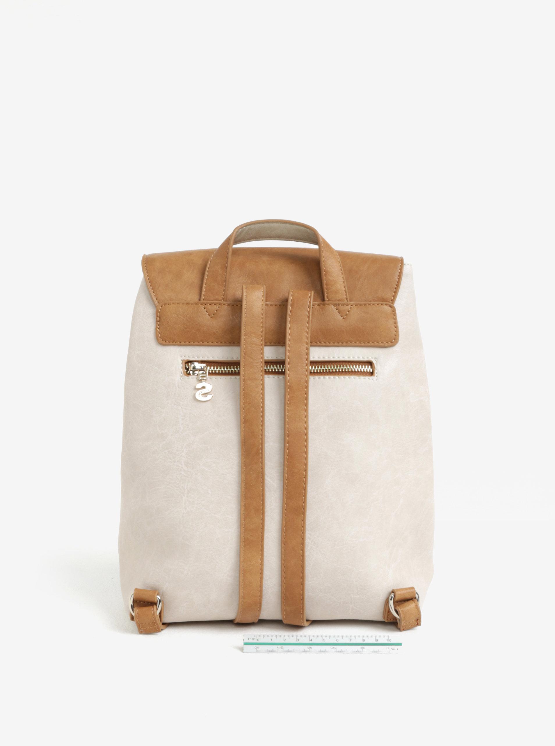 4e7eb7ee886 Hnědo-béžový batoh s květovanou výšivkou Desigual Hannah Toronto ...