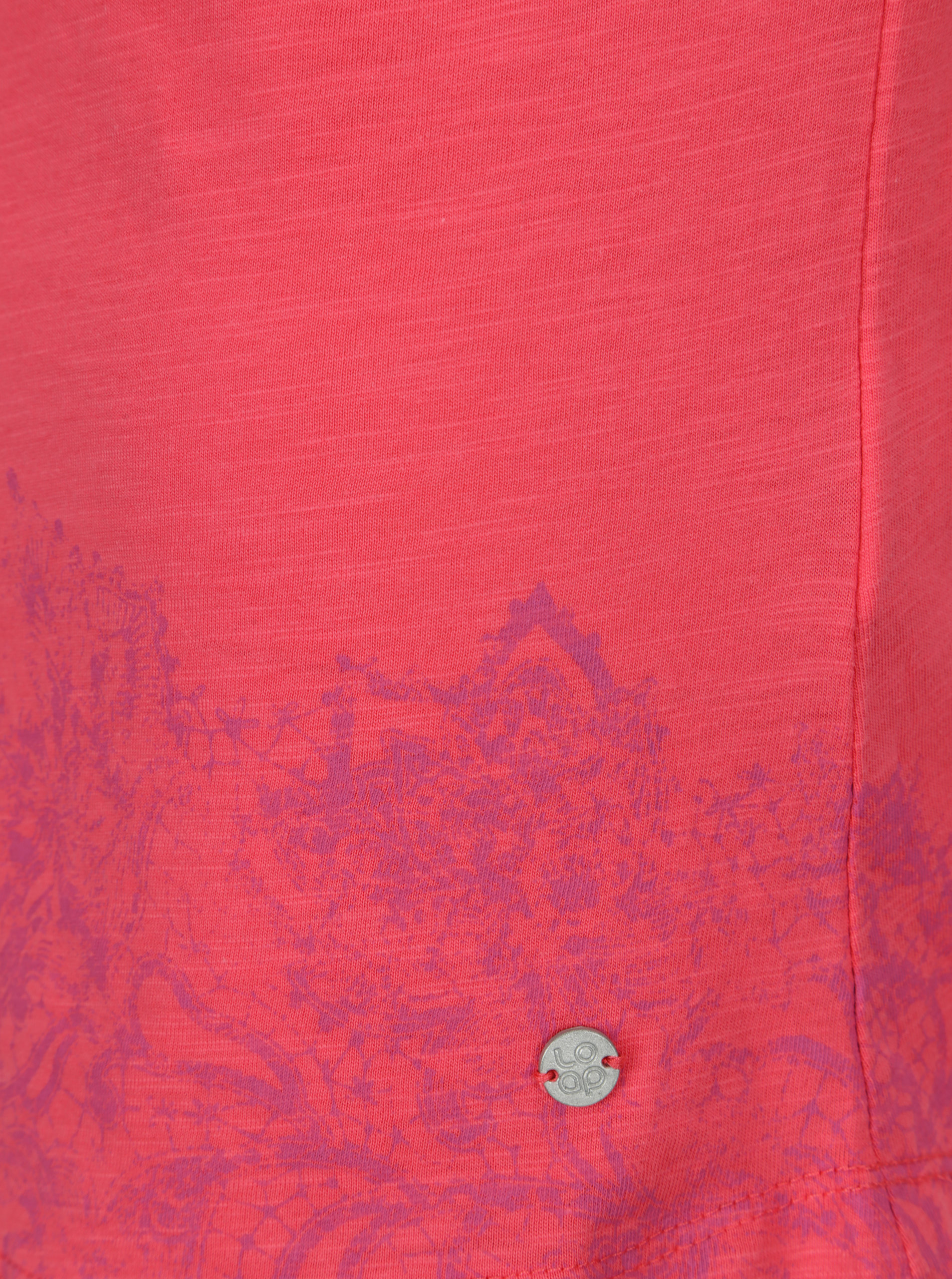 d8ea24c05e2a Ružové dámske tričko s okrúhlym výstrihom a potlačou LOAP Balisey ...