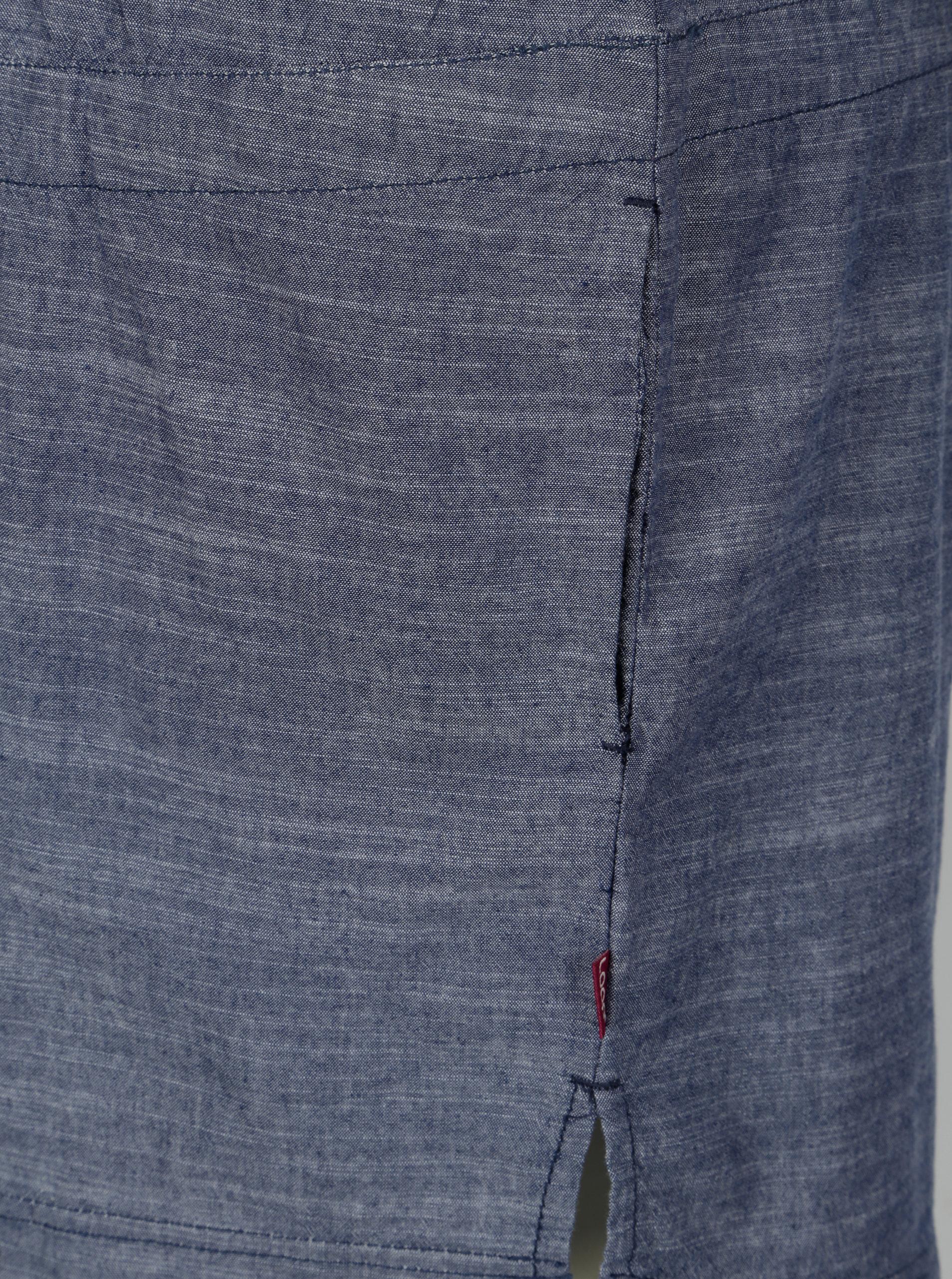 eabc7af815bc Modré žíhané šaty s 3 4 rukávy LOAP Nicia ...