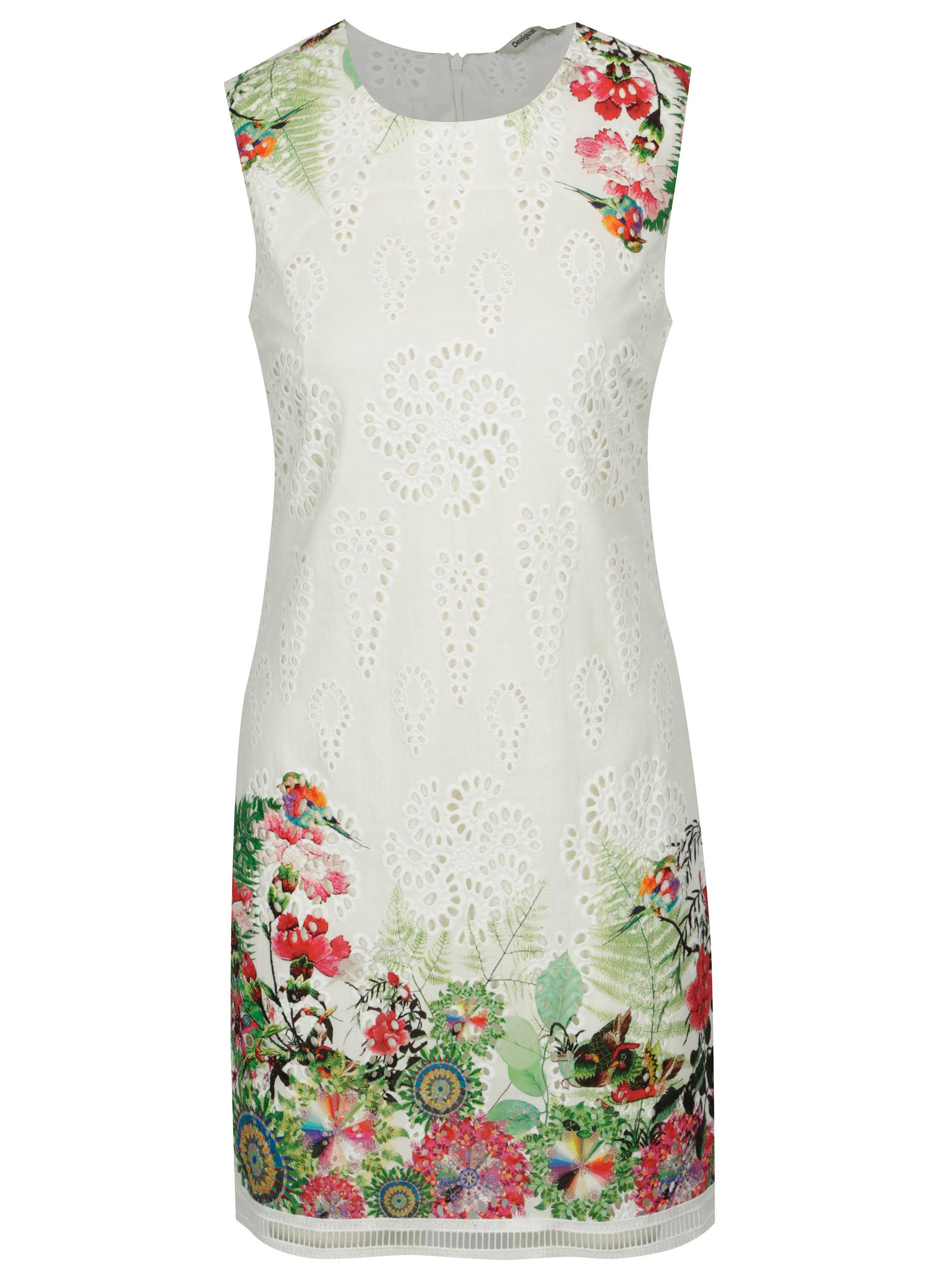 Bílé květované šaty Desigual Magarita ... 1a9a931b8b3