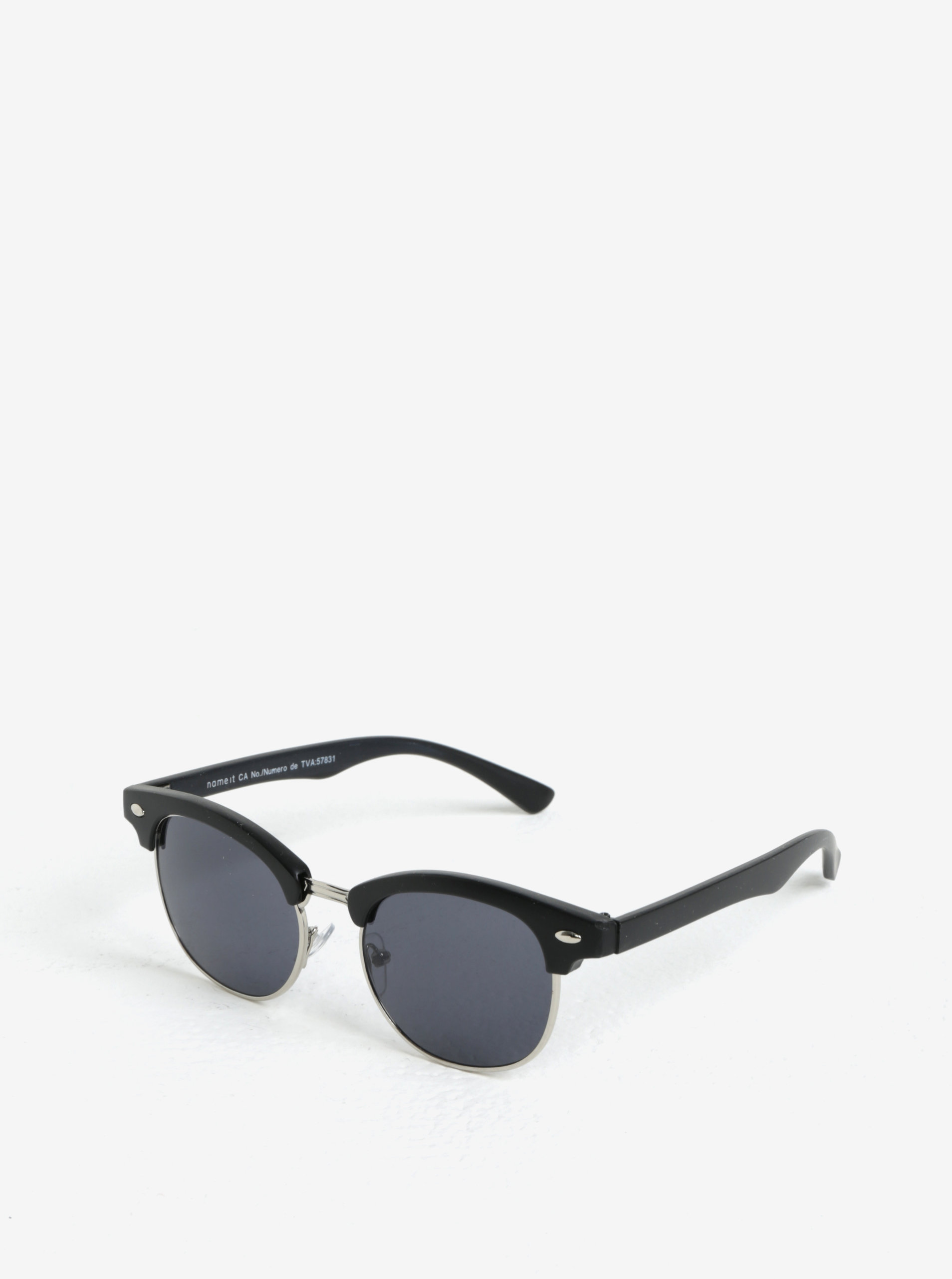 Strieborno-čierne detské slnečné okuliare name it Sun ... bb66307560b