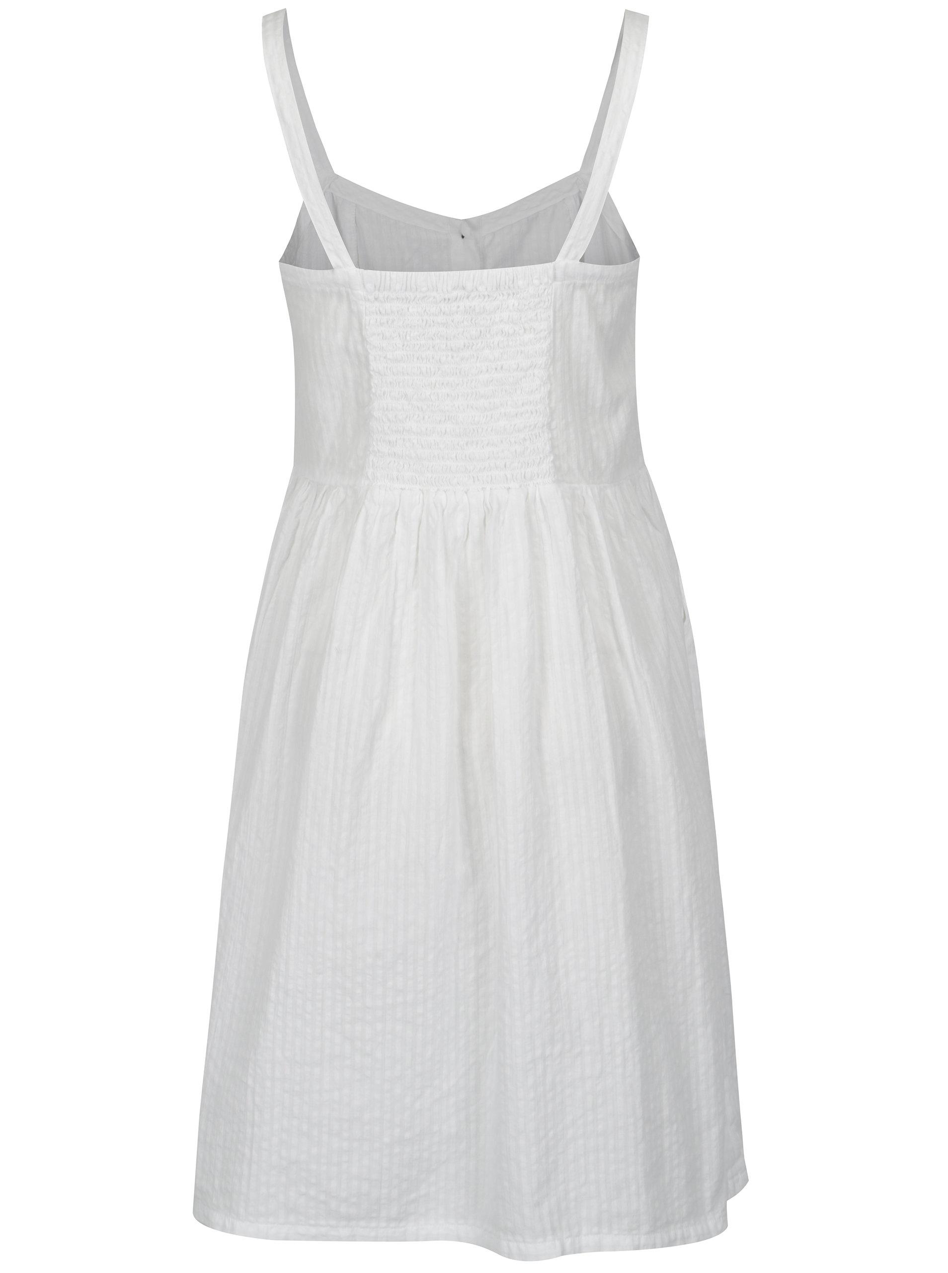 Bílé šaty na ramínka s knoflíky Blendshe Sersa ... a5b48d3901