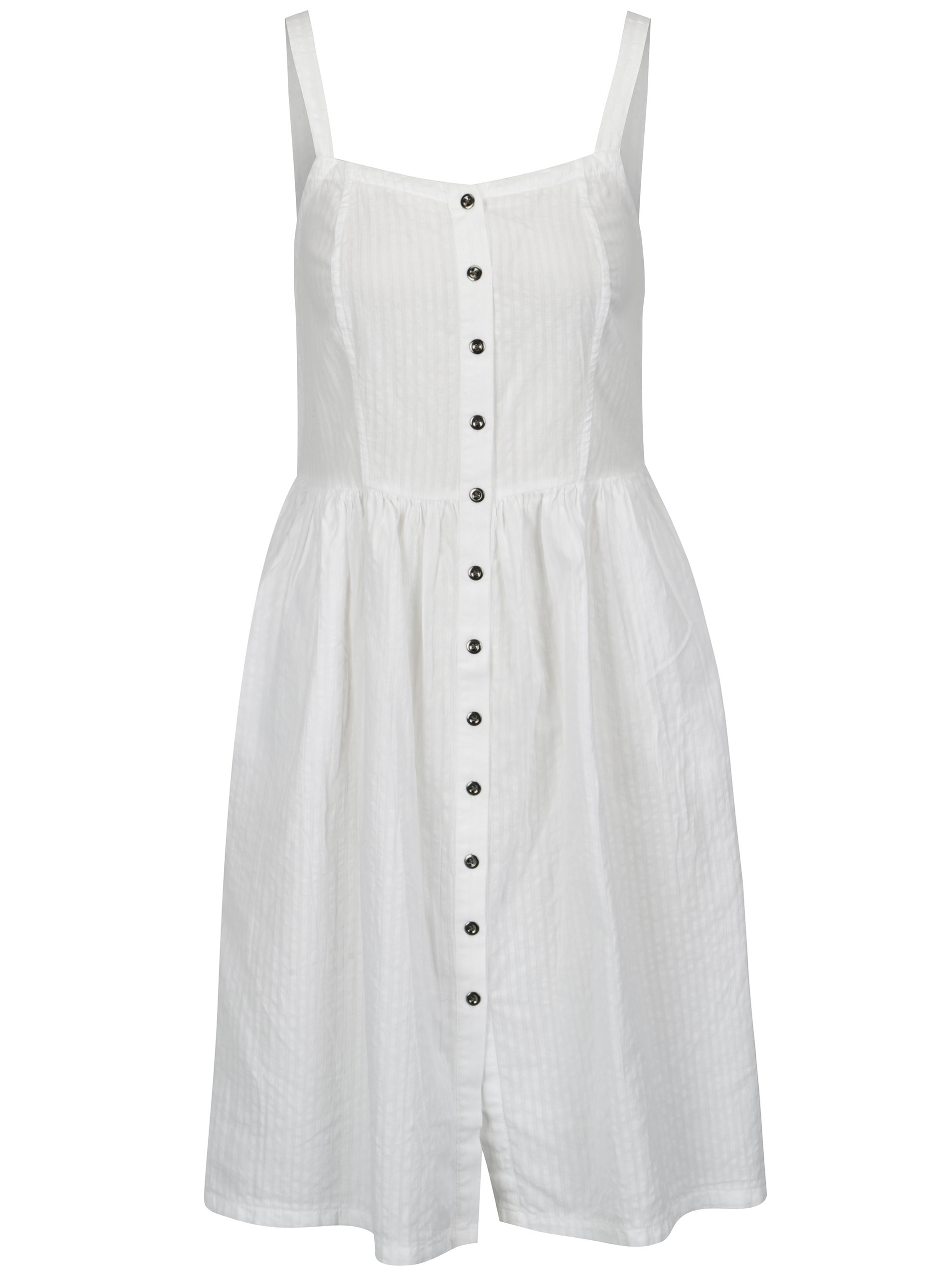 Bílé šaty na ramínka s knoflíky Blendshe Sersa ... cf55061a4b