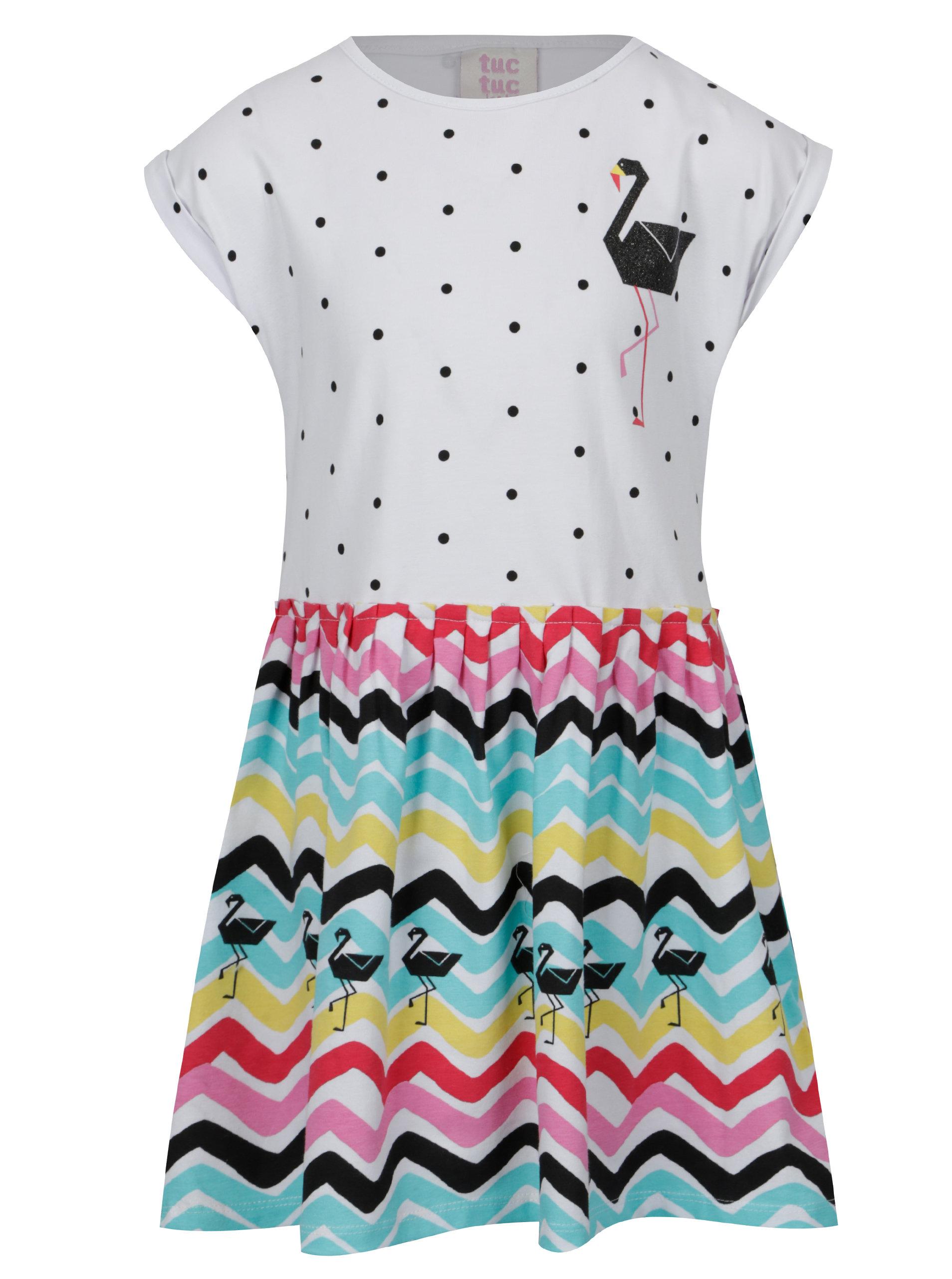 cd490bb24eee Zeleno-biele vzorované dievčenské šaty tuc tuc Combined Jersey ...