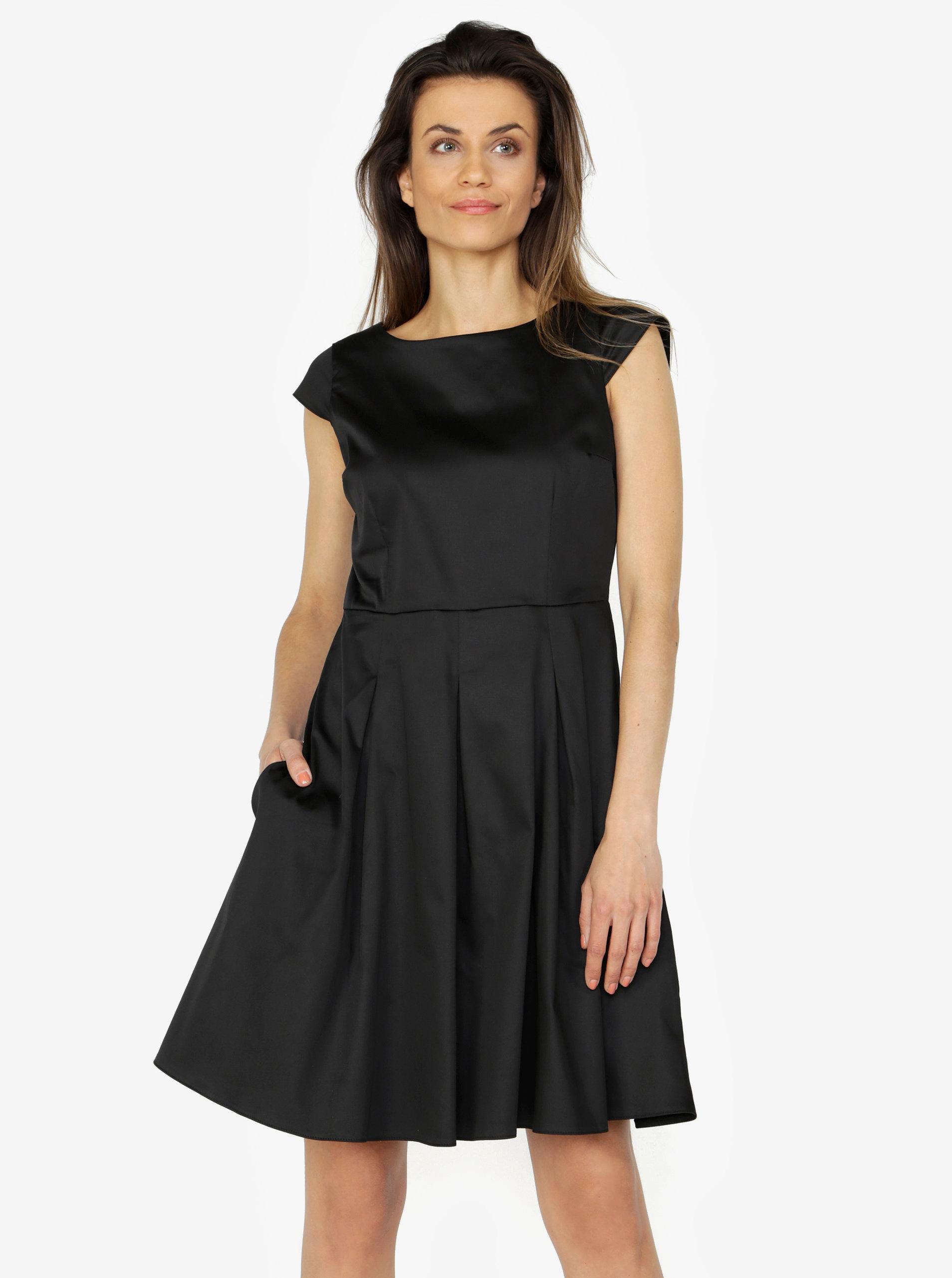5c63178a61a7 Černe šaty s áčkovou sukní ZOOT ...
