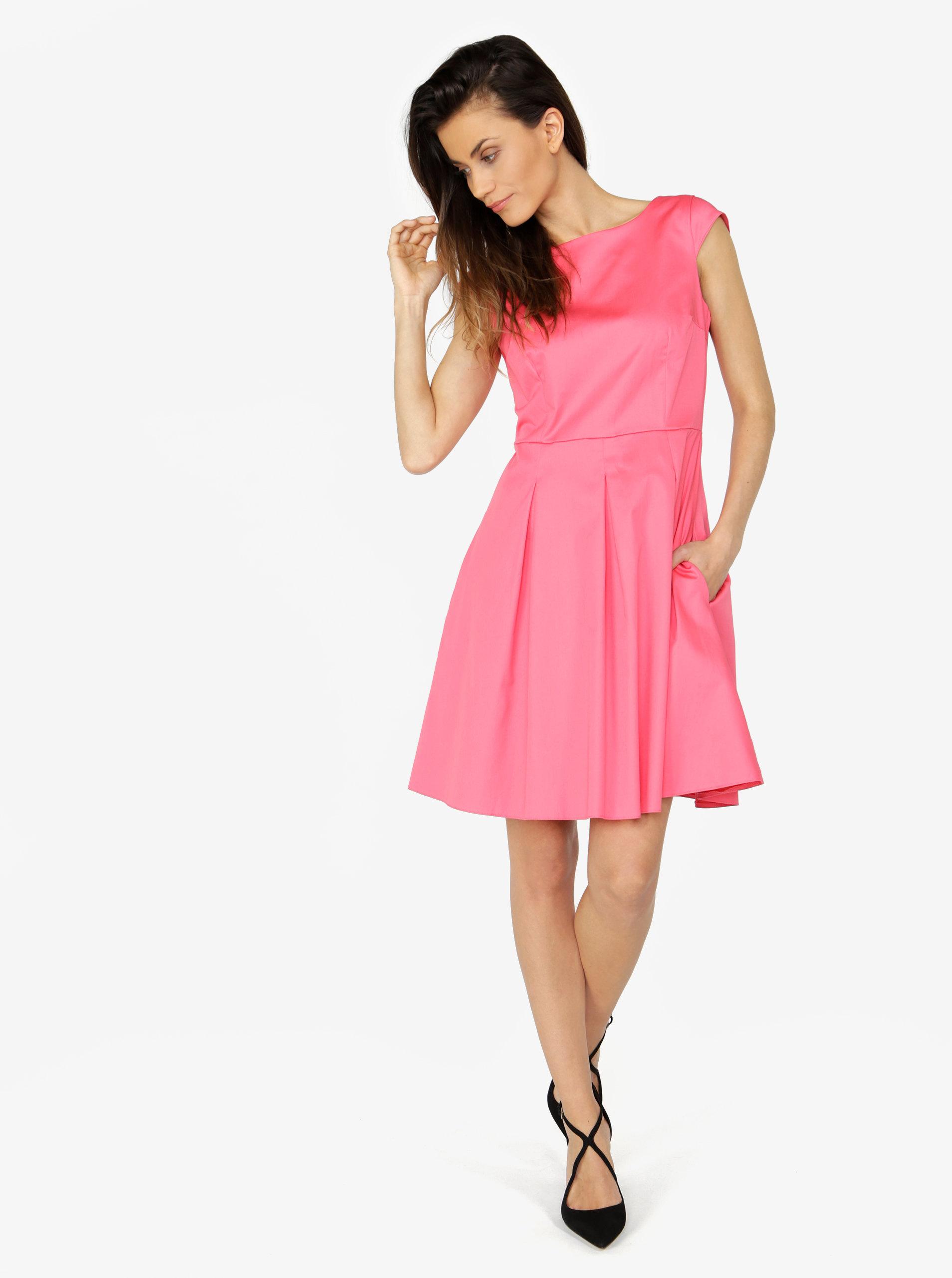 2e20d79c154c Růžové šaty s áčkovou sukní ZOOT ...