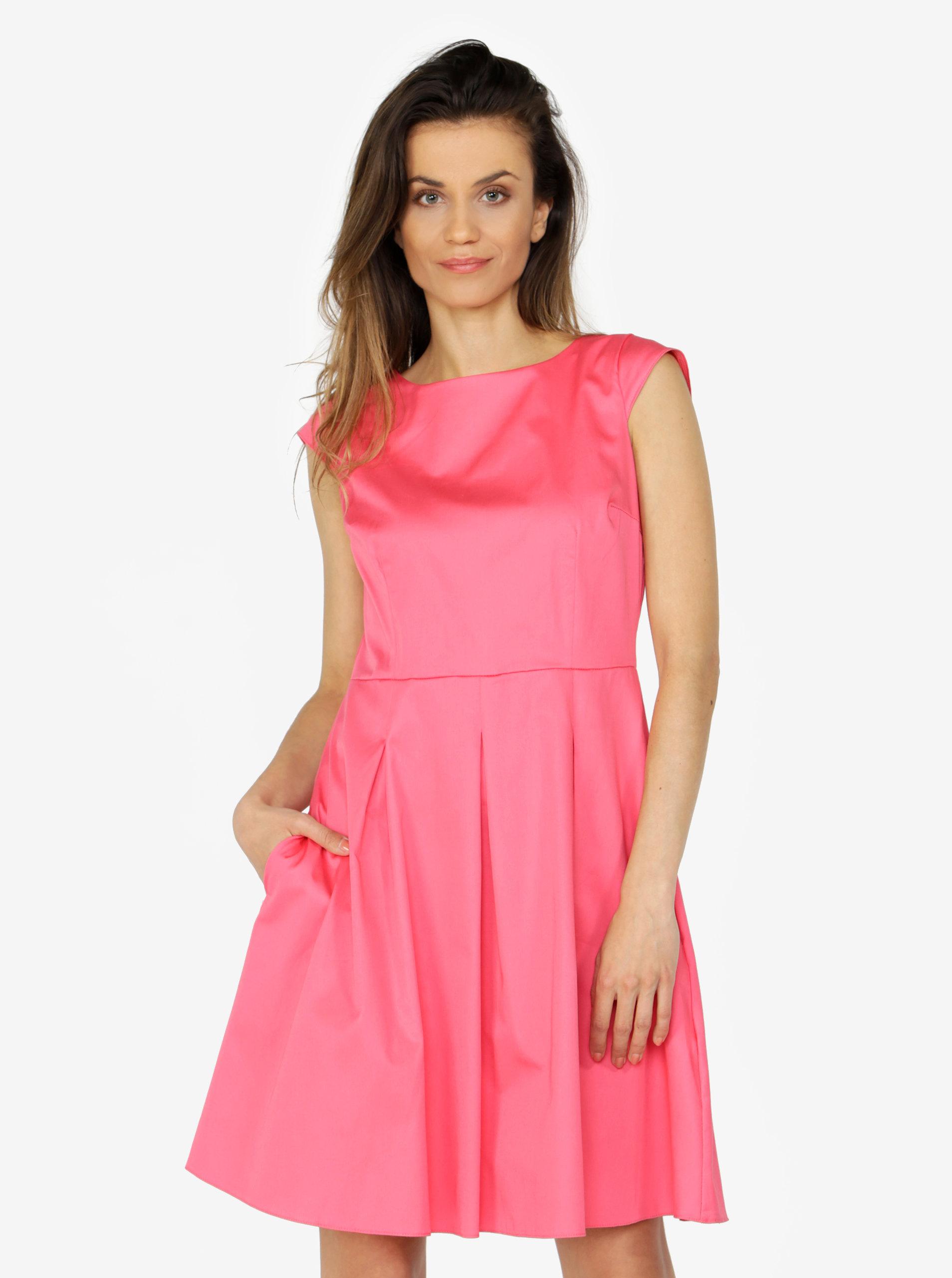 7f0c669e1d8b Růžové šaty s áčkovou sukní ZOOT ...