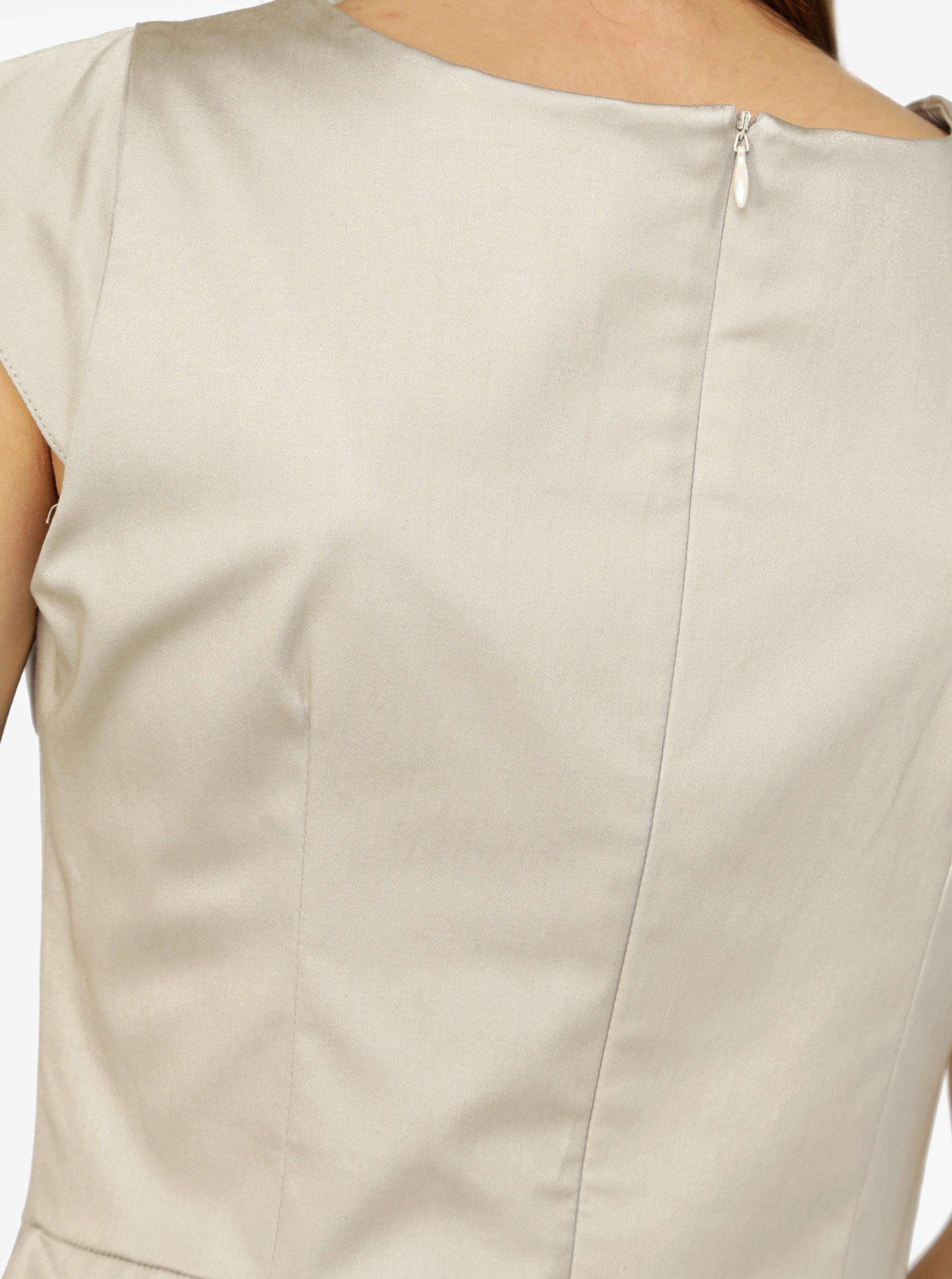 07281fad2a26 Béžové šaty s áčkovou sukní ZOOT ...