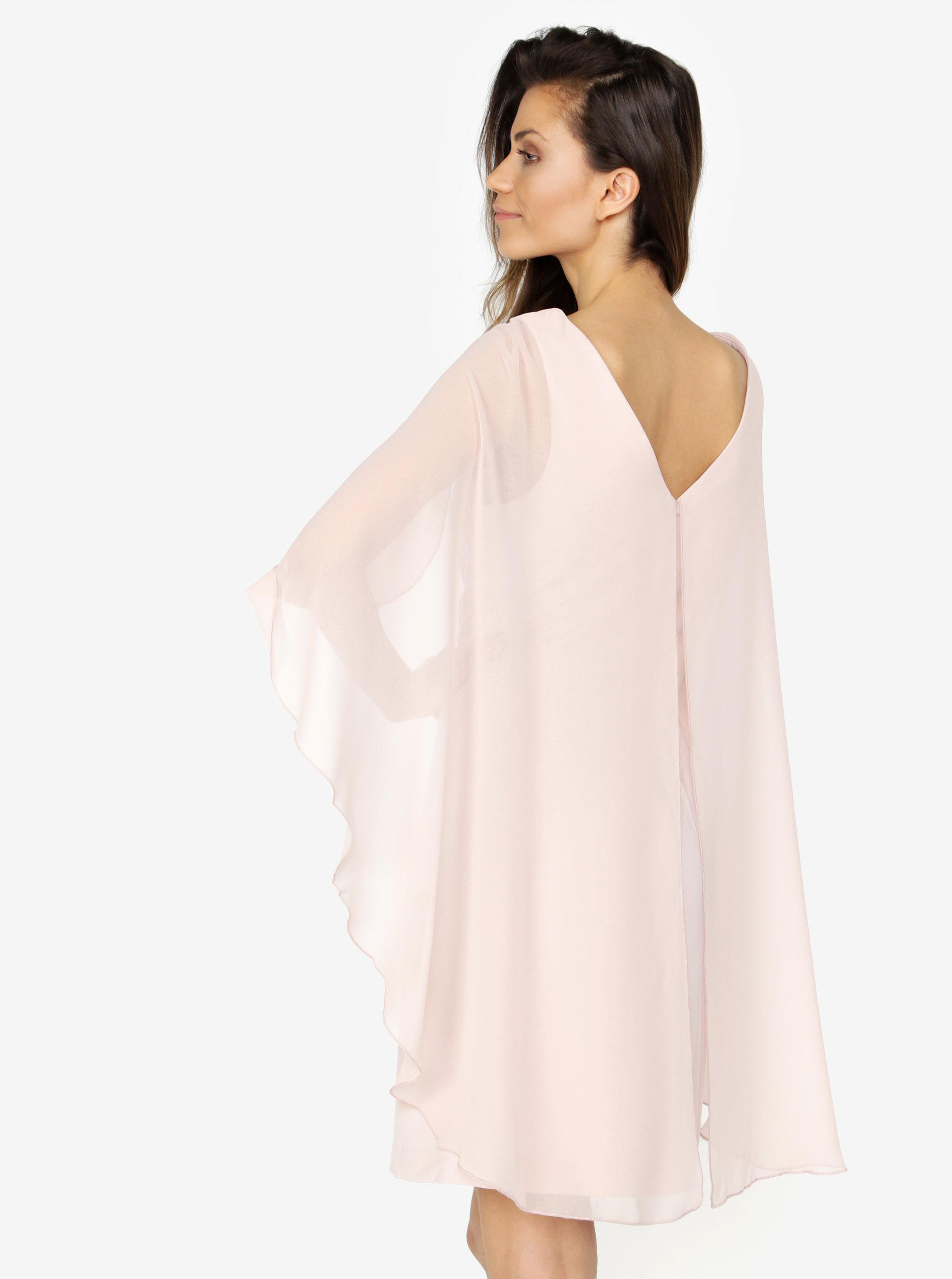 85afe92d601a Svetloružové šaty s volánovými rukávmi VERO MODA Hannah ...