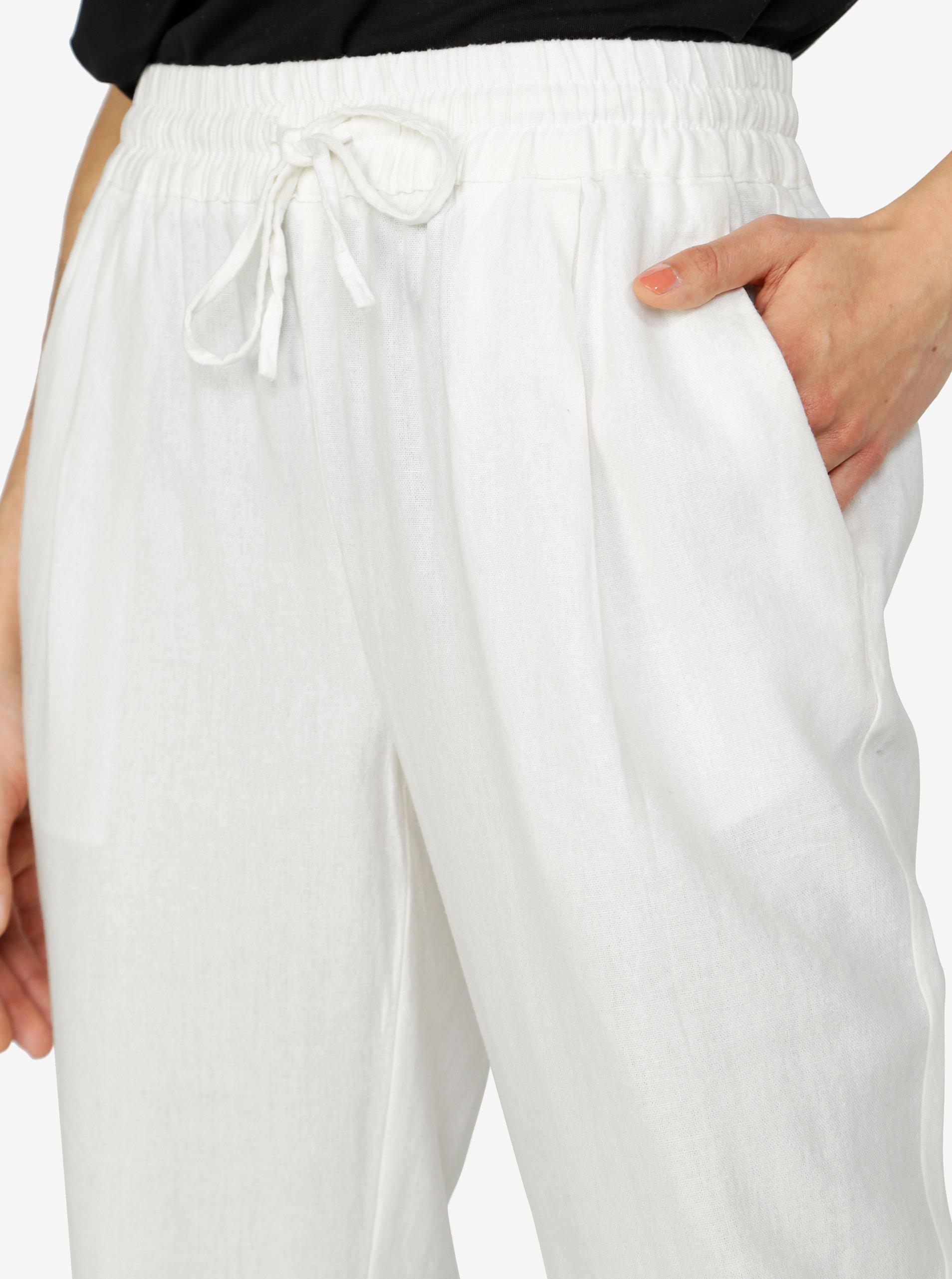 3406c9361b3b Krémové nohavice s vreckami VERO MODA Masta Milo ...