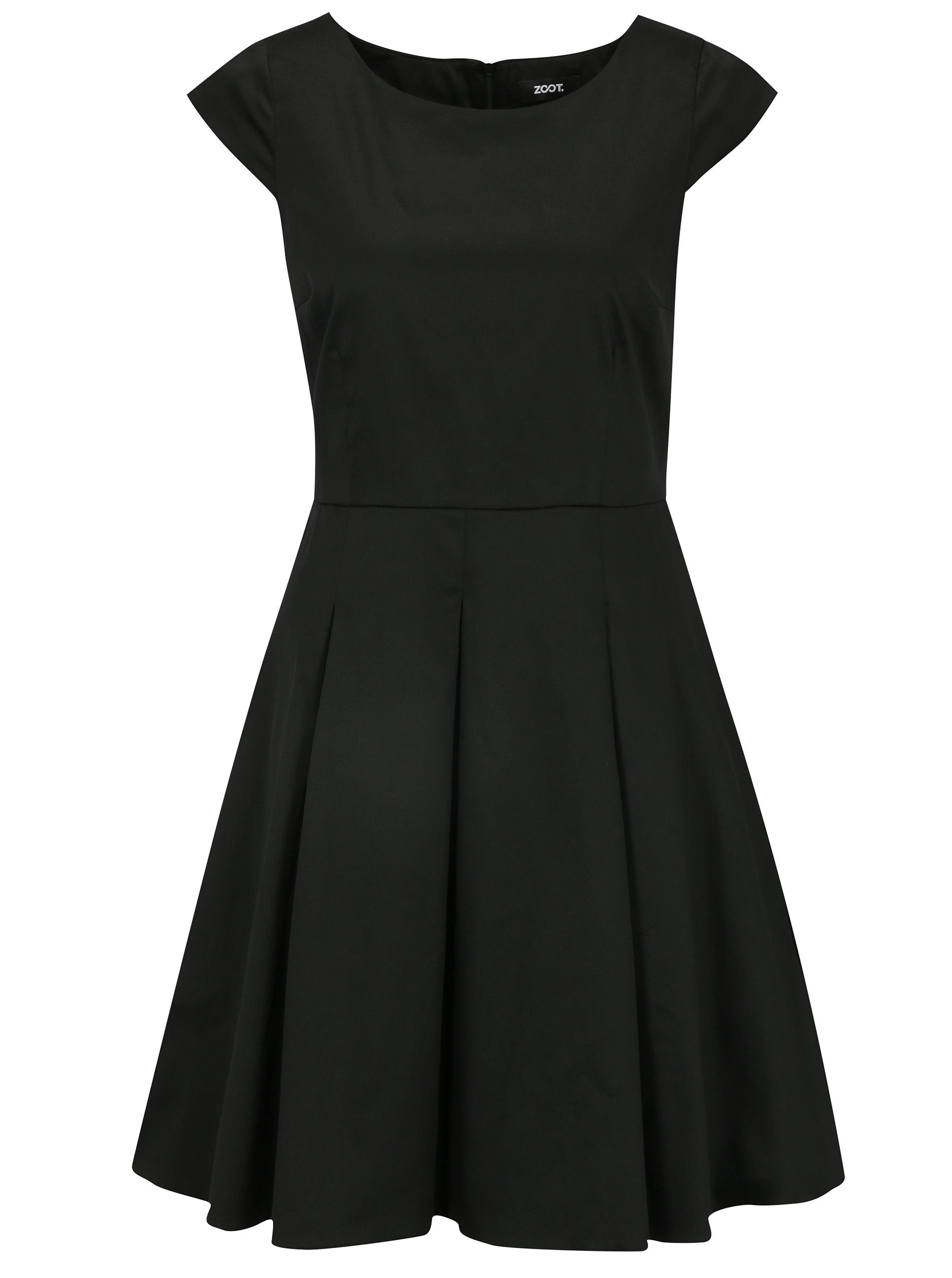 06e09ce1bd1e Černe šaty s áčkovou sukní ZOOT ...
