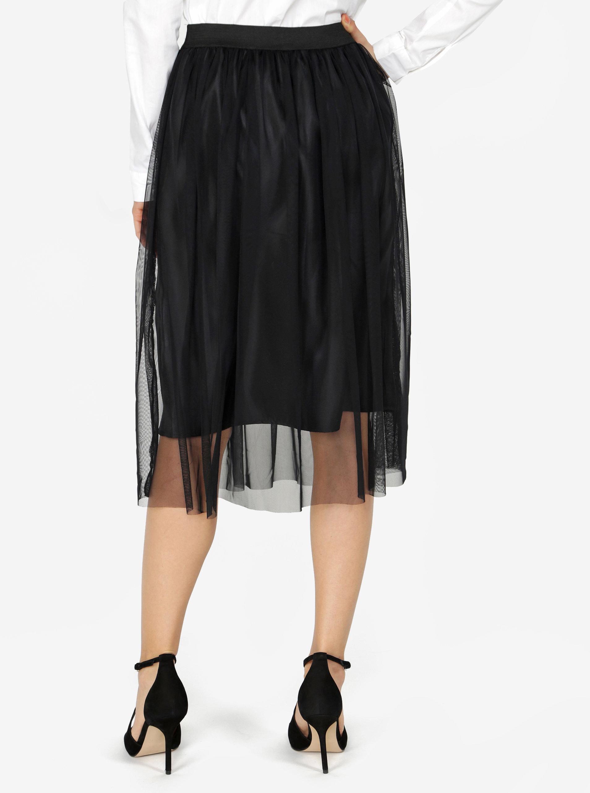 9f0430393061 Čierna tylová sukňa ZOOT ...