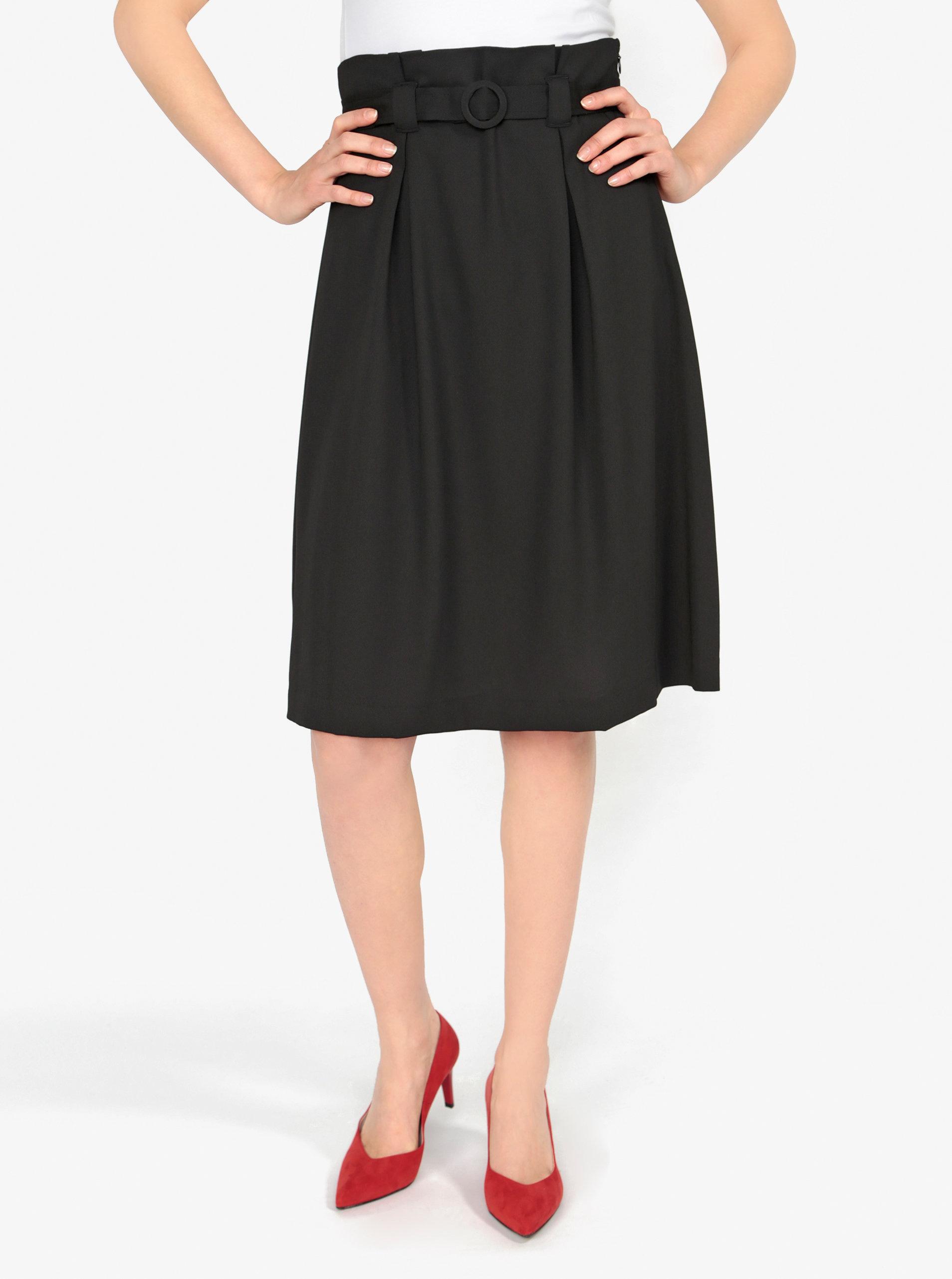 599ac9bd497b Čierna áčková sukňa s opaskom VERO MODA Emmy ...