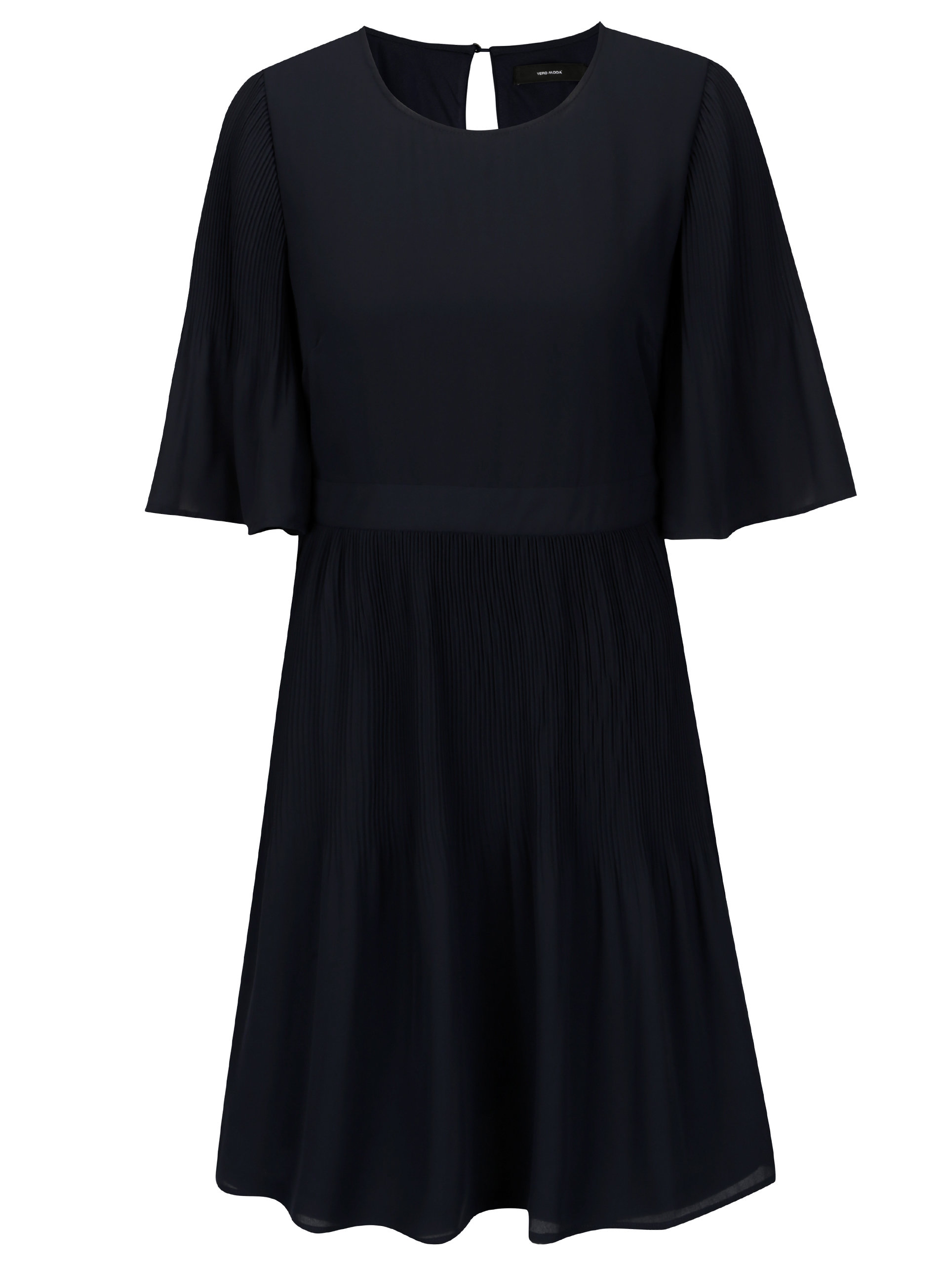 e25ed0fa0d Tmavomodré šaty s 3 4 rukávom VERO MODA Amanda ...