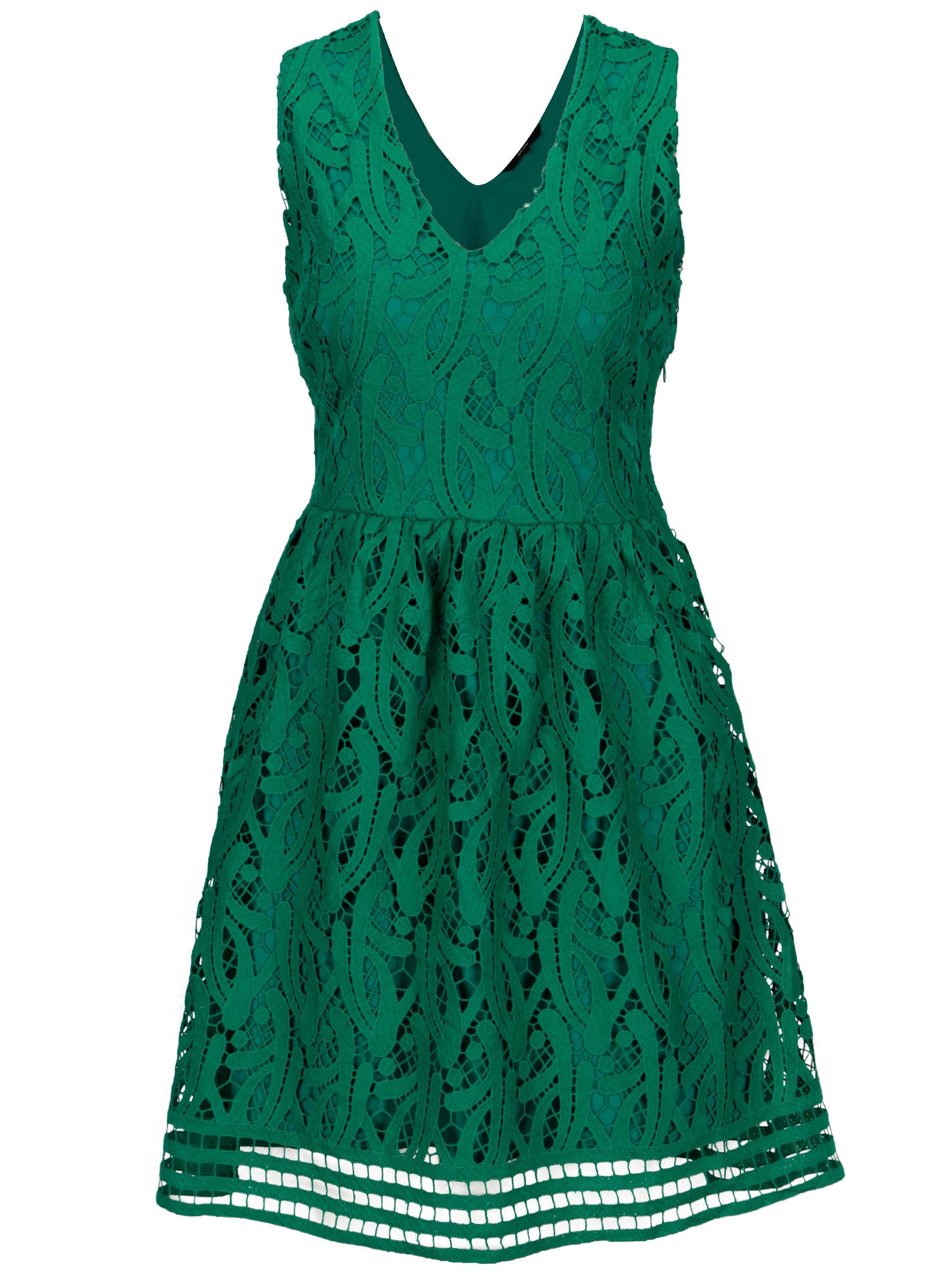 ef21f790f80a Zelené čipkované šaty VERO MODA New Exclusive ...