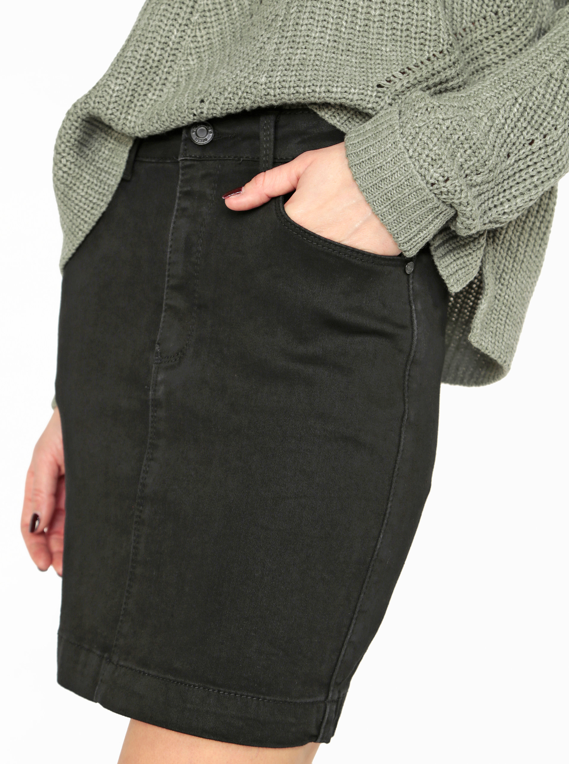Černá džínová sukně MISSGUIDED ... e767775bc1
