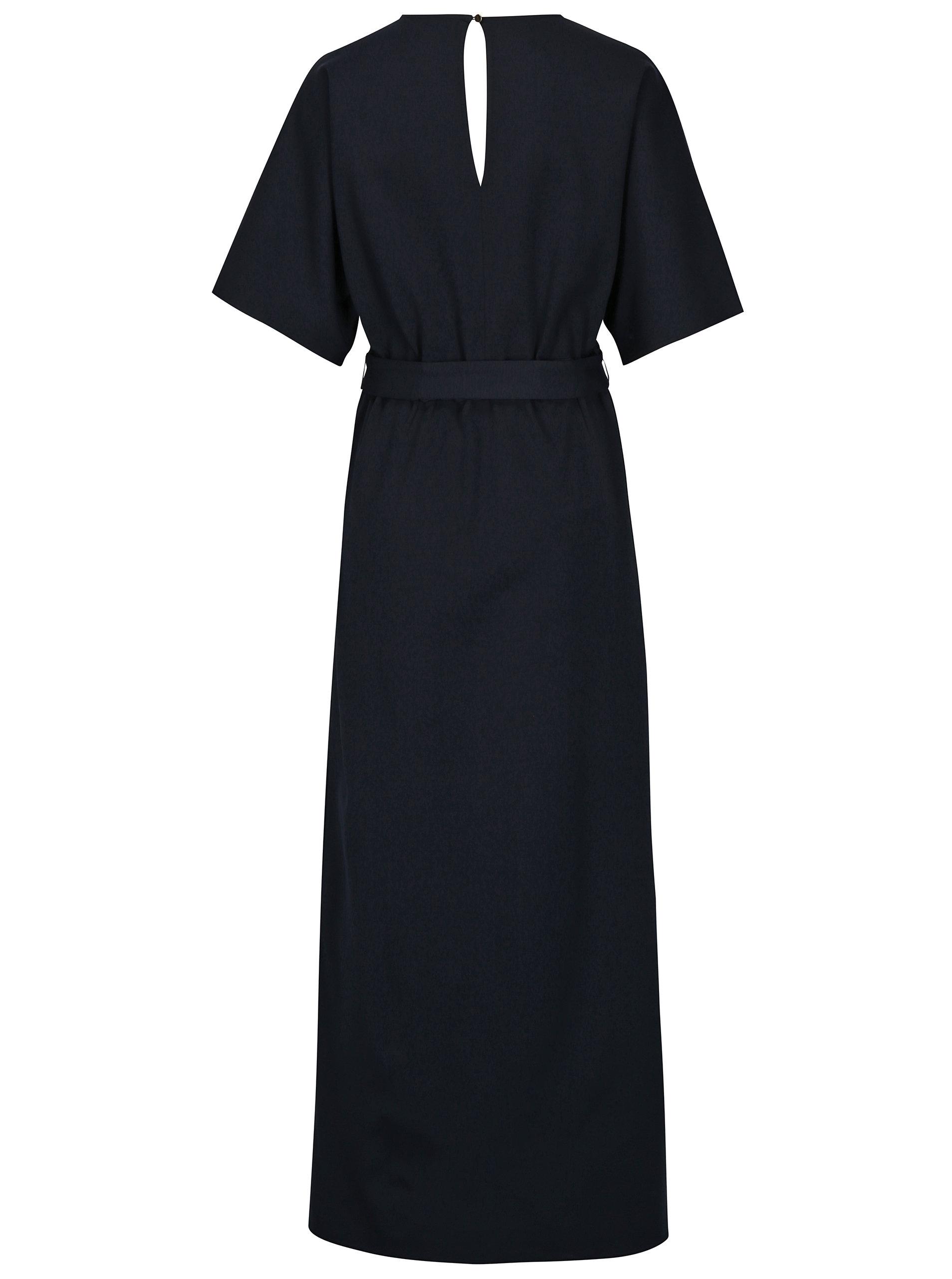 Tmavě modré dlouhé šaty Selected Femme Kimm ... 70a7106ece