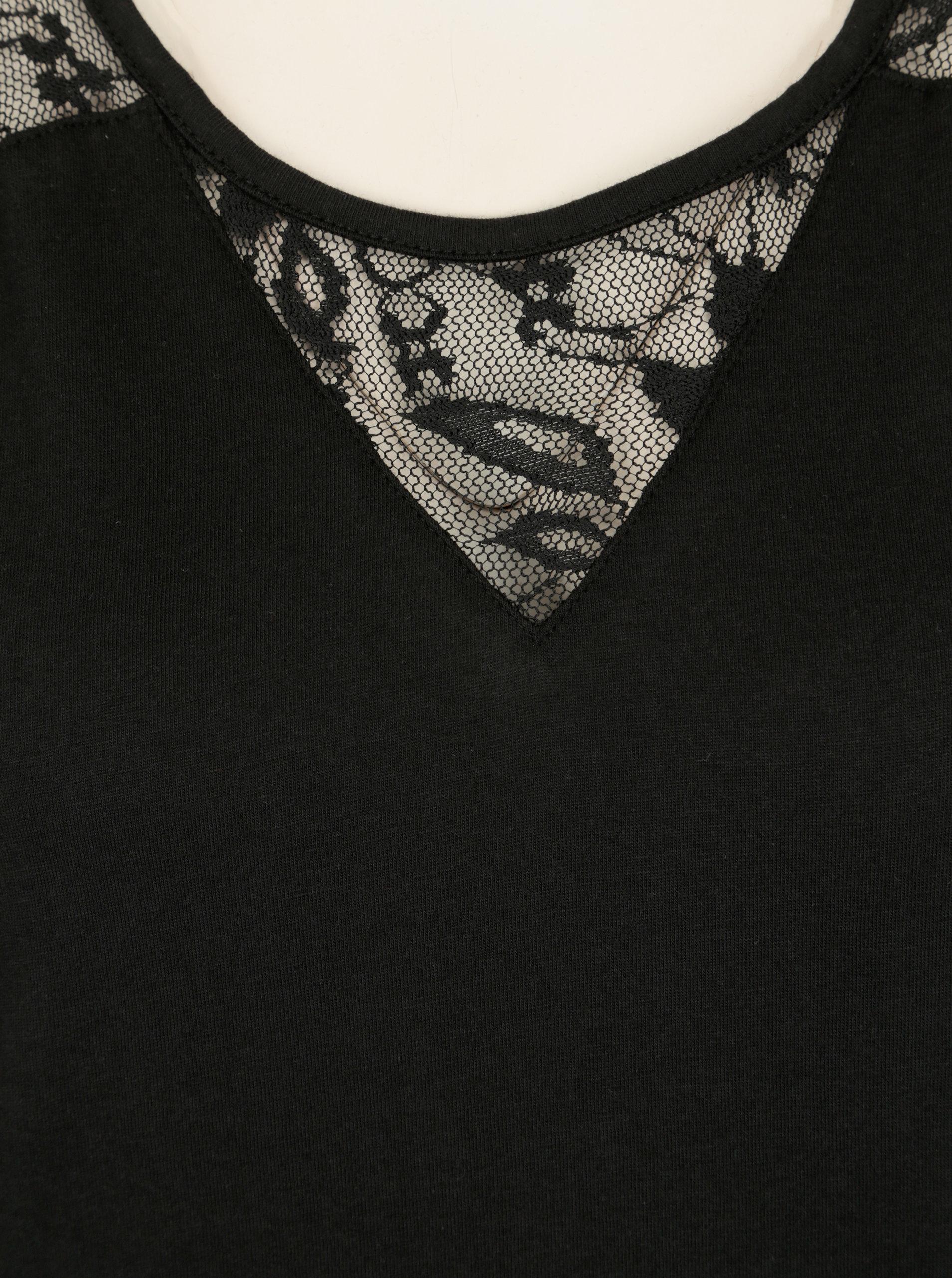 Čierne šaty s čipkou na chrbte Cars Louisia ... 93fb7f29918