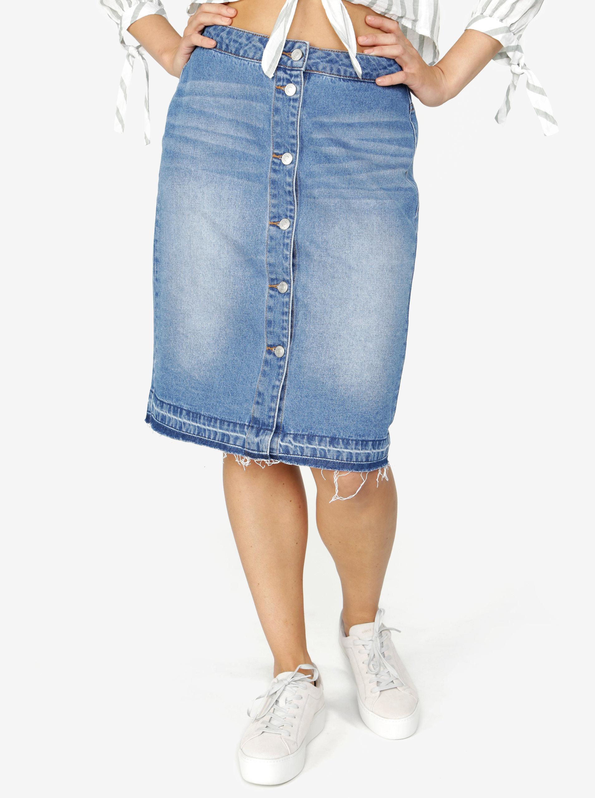 Modrá džínová sukně Jacqueline de Yong Peace ... 08d50ea6ce